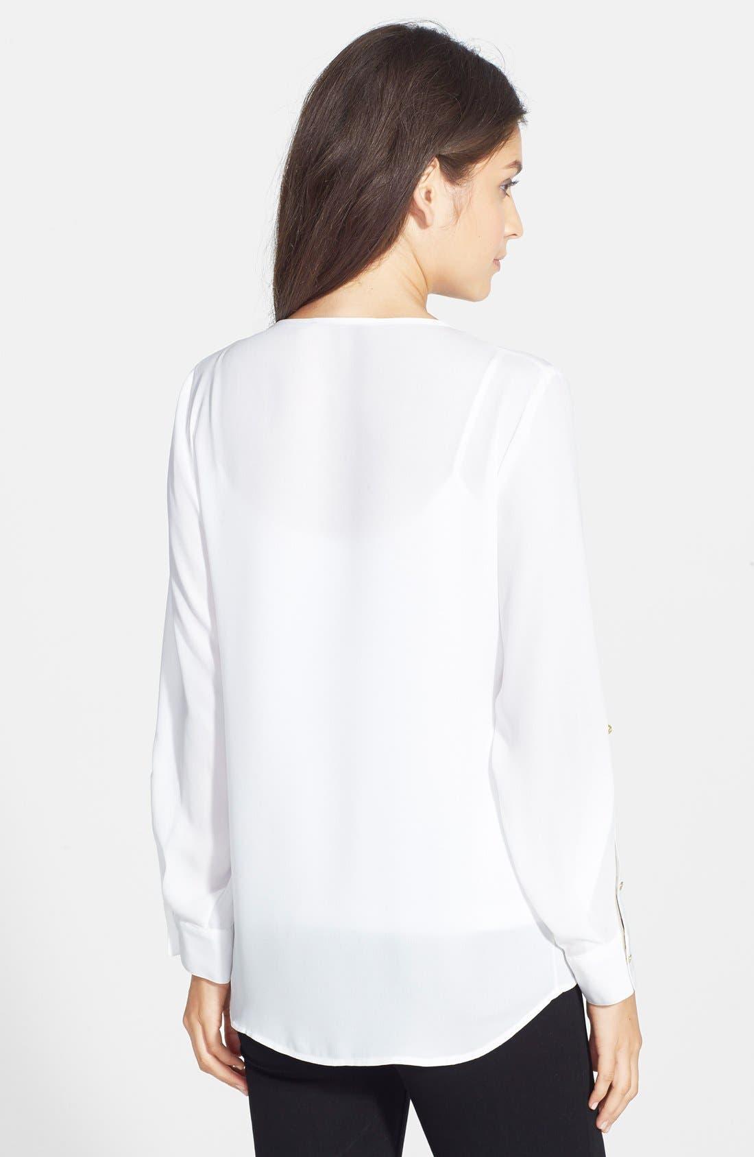 Alternate Image 2  - Chaus Zip Front V-Neck Top