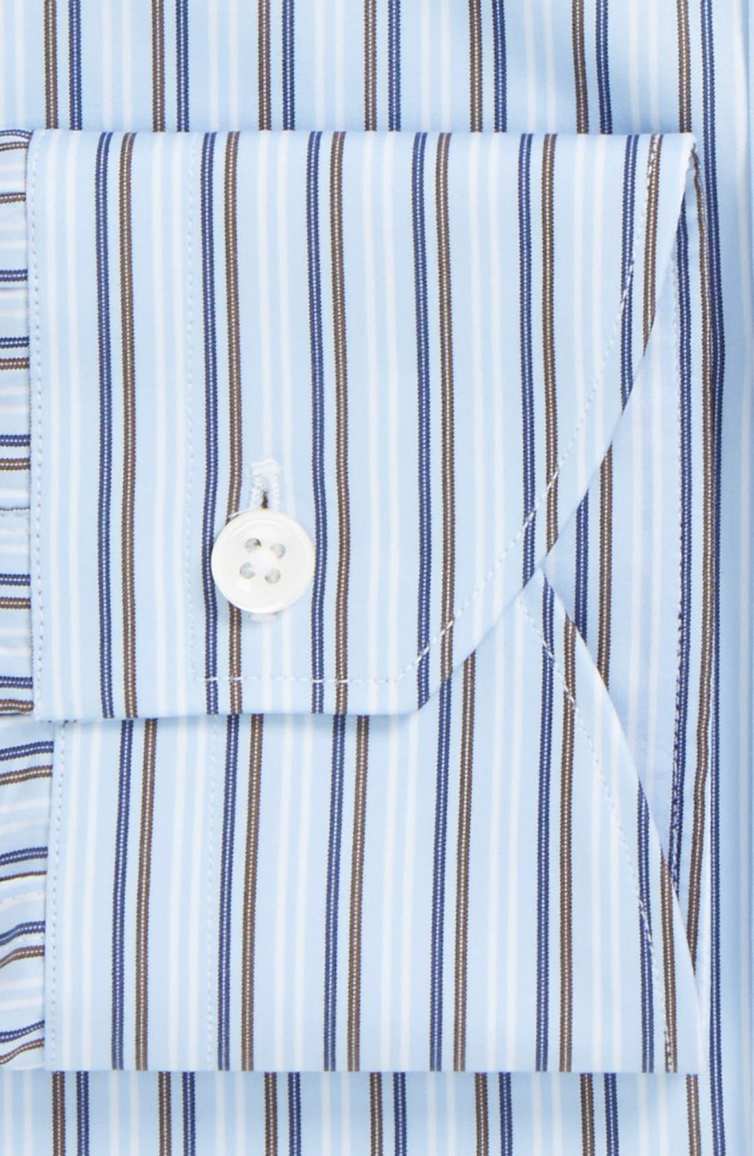 Alternate Image 2  - Canali Regular Fit Stripe Dress Shirt