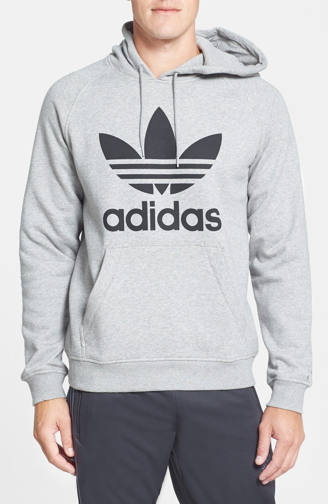 Alternate Image 1 Selected - adidas Originals Regular Fit Raglan Hoodie