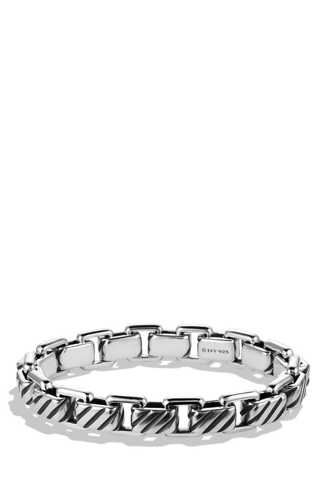 'Modern Cable' Empire Link Bracelet,                             Main thumbnail 1, color,                             Silver