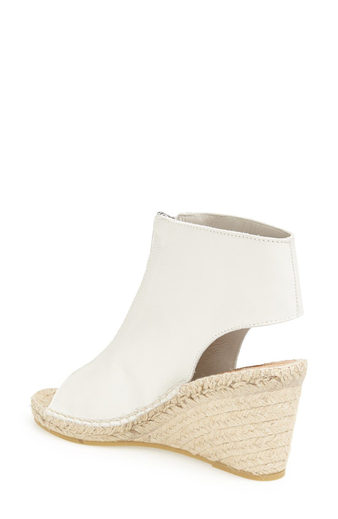 Alternate Image 2  - Topshop Zip Up Cutout Leather Bootie Wedge
