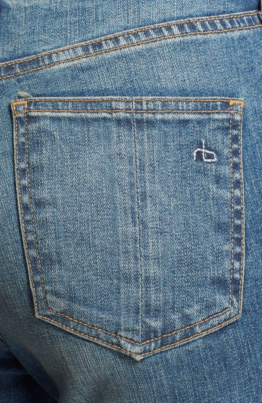 Alternate Image 3  - rag & bone/JEAN 'The Justine' High Rise Jeans (Surf)