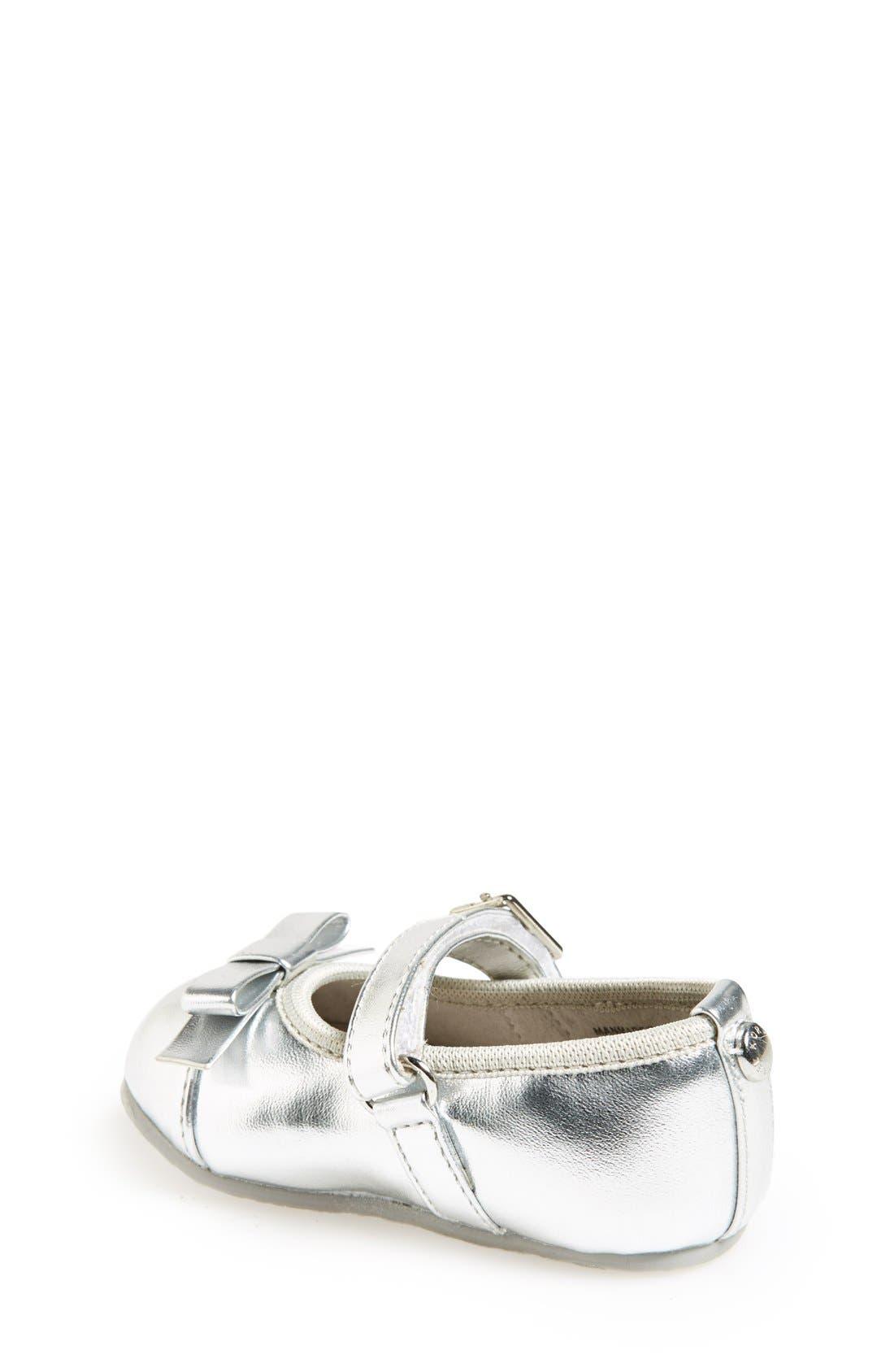 Alternate Image 2  - MICHAEL Michael Kors 'Grace Bina' Mary Jane Crib Shoe (Baby)