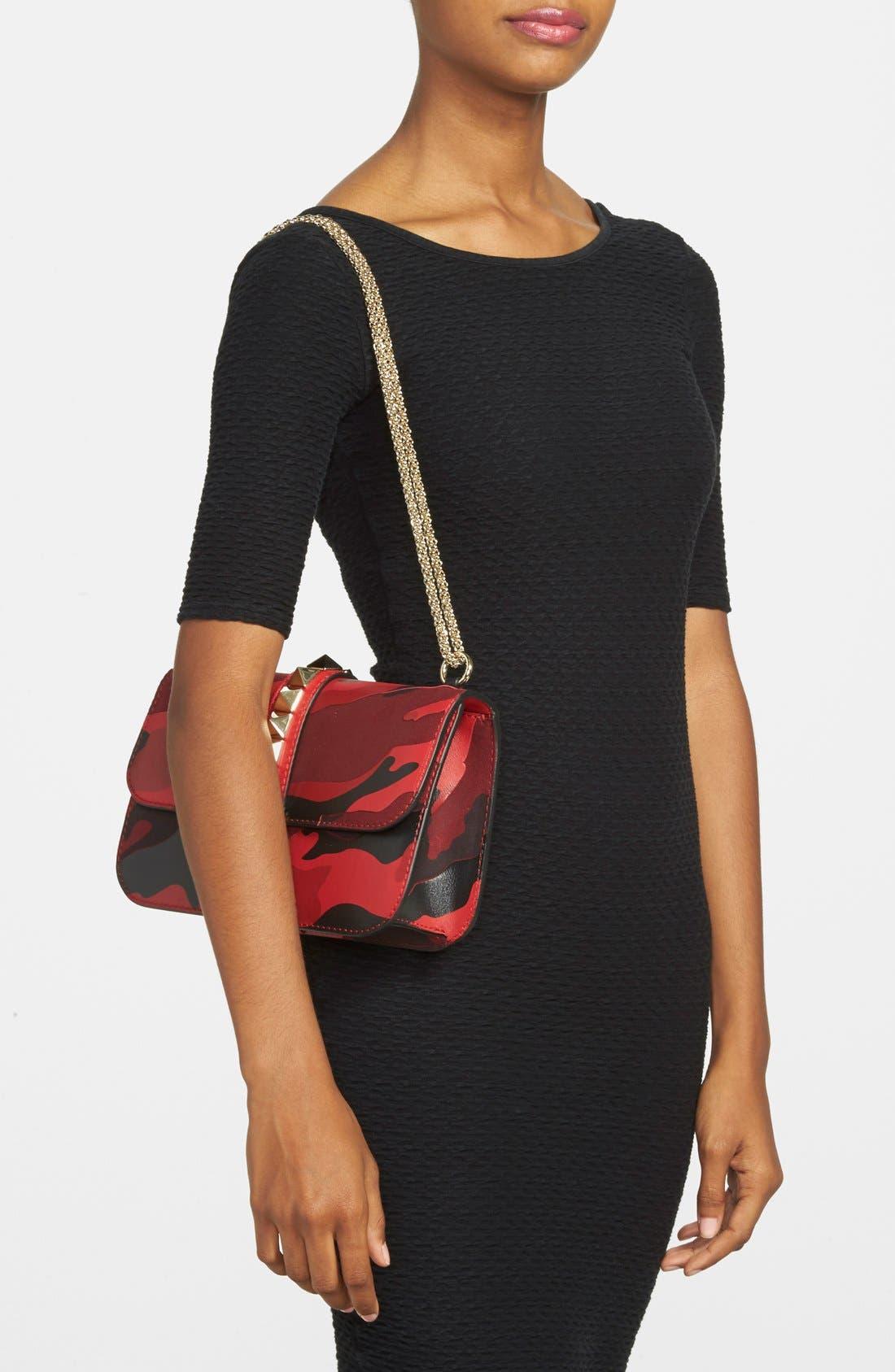 Alternate Image 2  - Valentino 'Rockstud Camo - Medium Lock' Canvas & Leather Shoulder Bag
