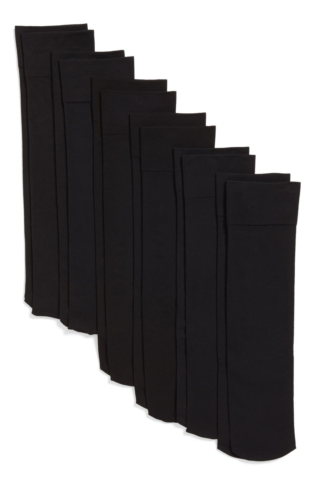 Alternate Image 2  - Nordstrom Solid Opaque Knee High Socks (6-Pack)