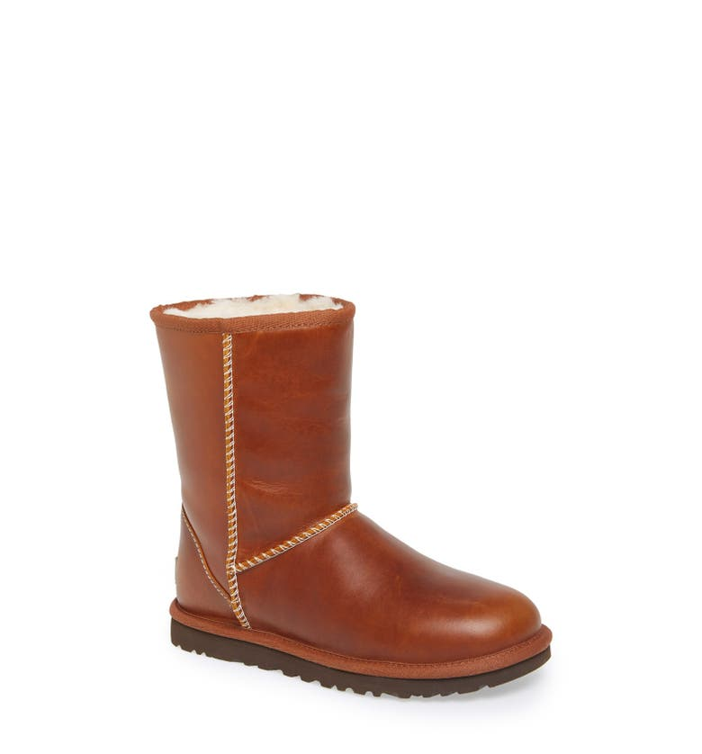 UGG® Australia 'Classic Short' Leather Water Resistant ...