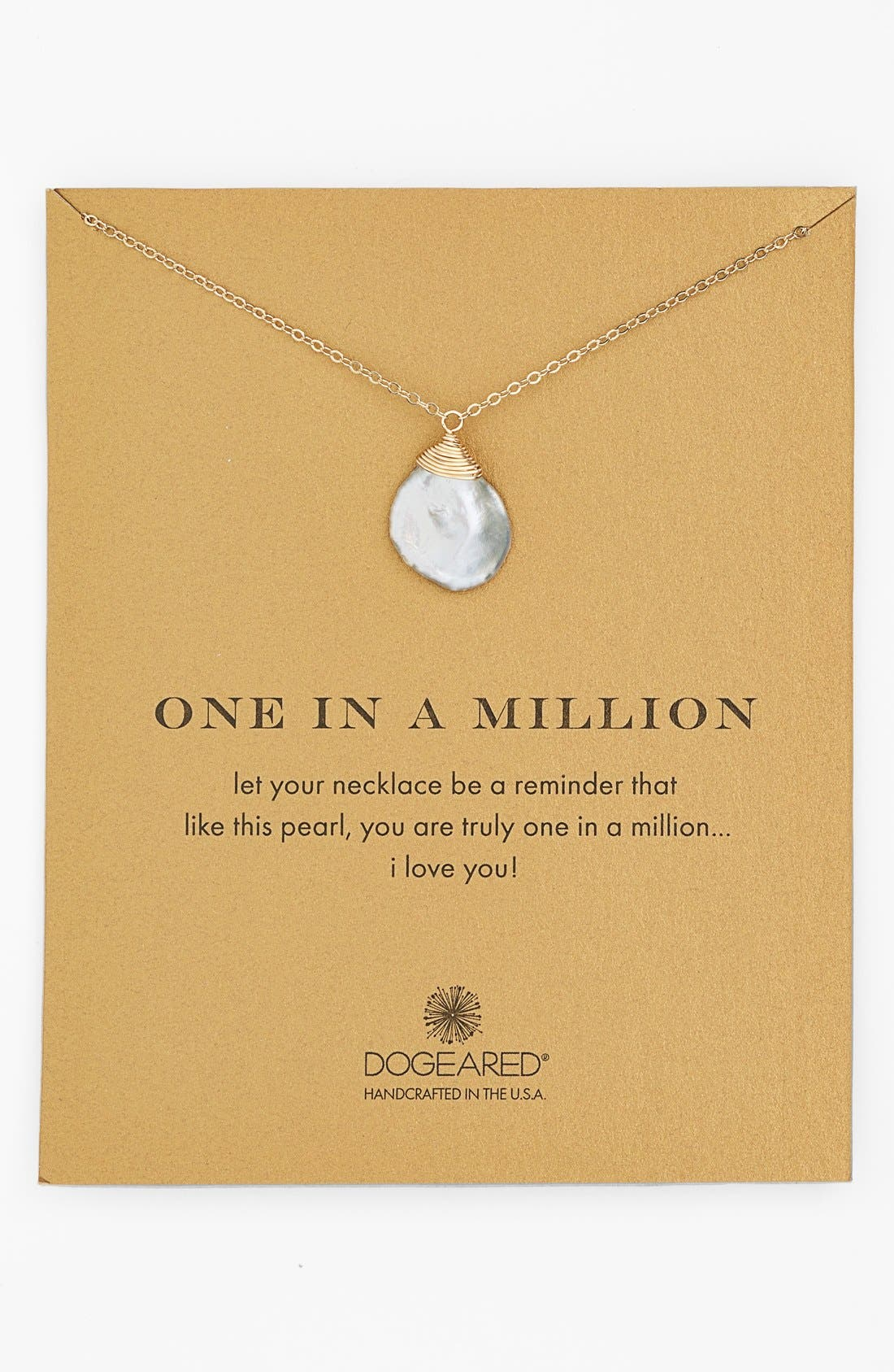 Main Image - Dogeared 'One in a Million' Keshi Pearl Necklace