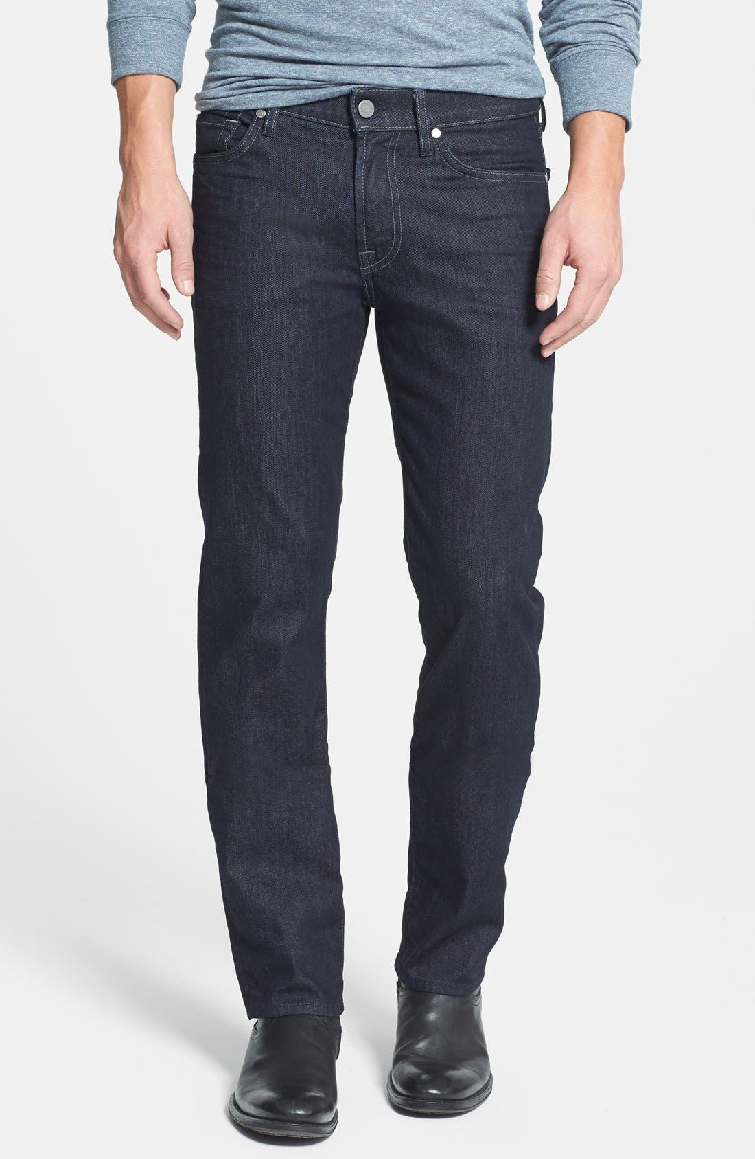 7 For All Mankind® 'Slimmy - Luxe Performance' Slim Fit Jeans (Deep Well)
