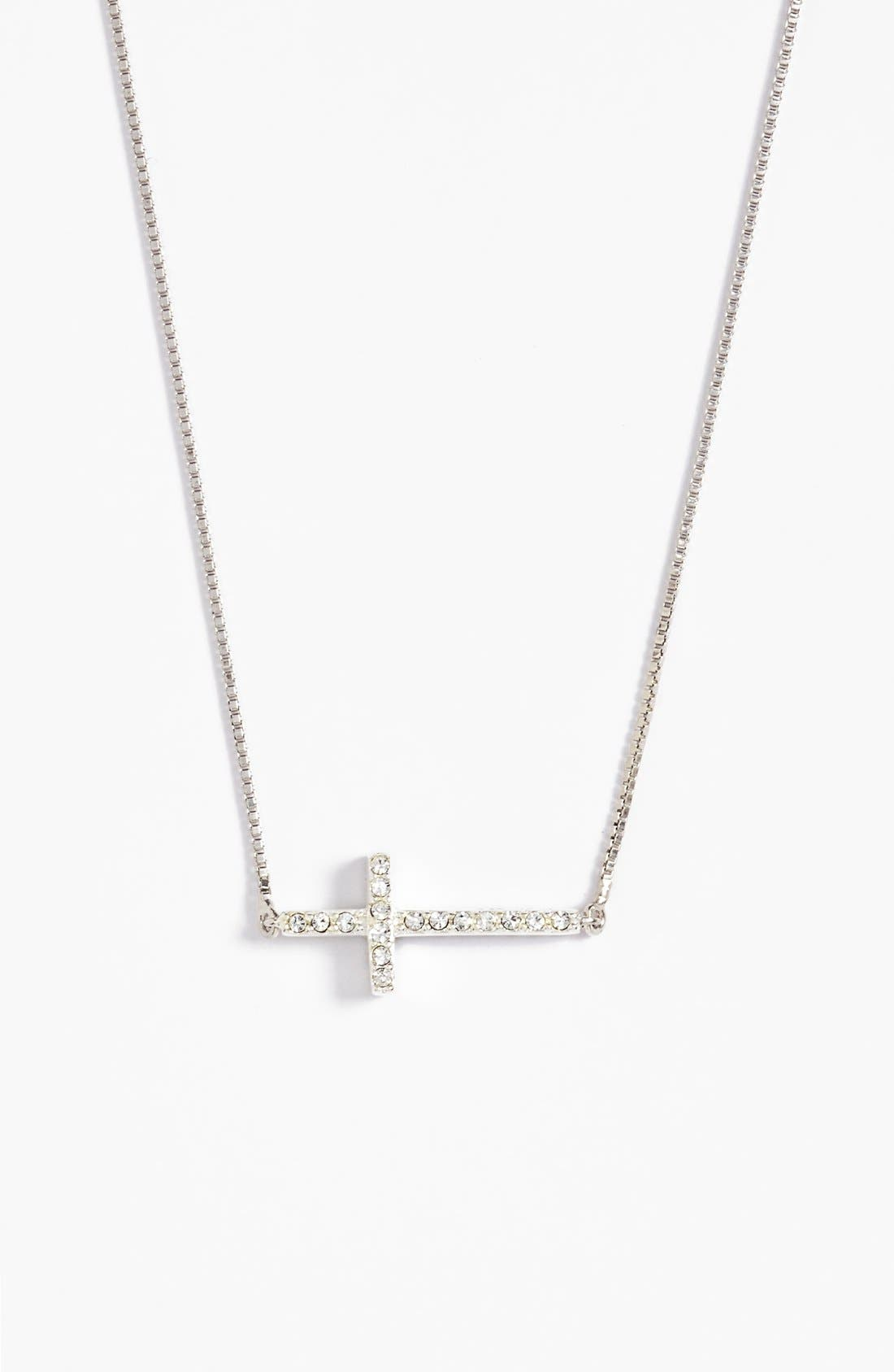 Main Image - Judith Jack Reversible Pavé Cross Pendant Necklace