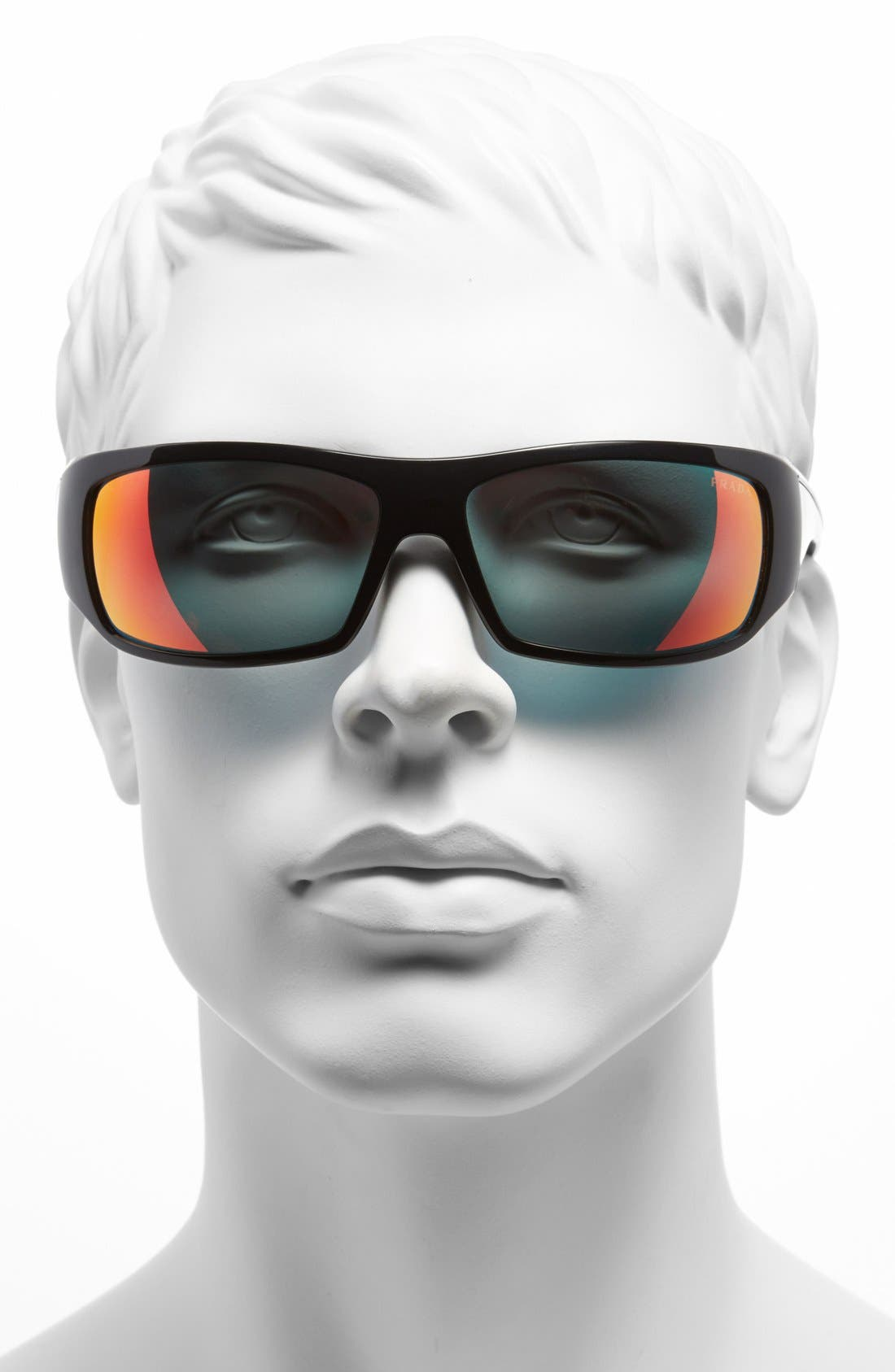 Alternate Image 2  - Prada 65mm Wraparound Sunglasses