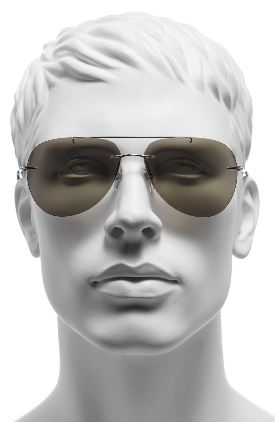 Alternate Image 2  - Prada 'Pilot' 60mm Rimless Sunglasses