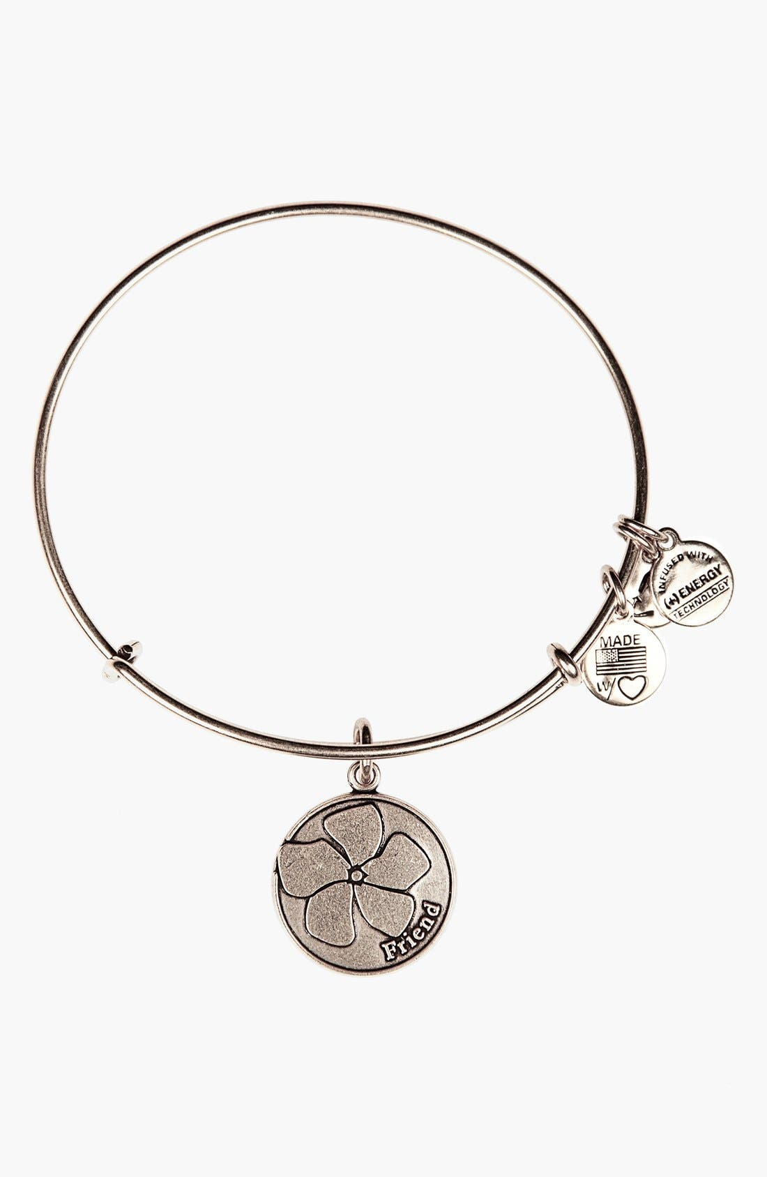 Main Image - Alex and Ani 'Friend' Expandable Wire Bangle