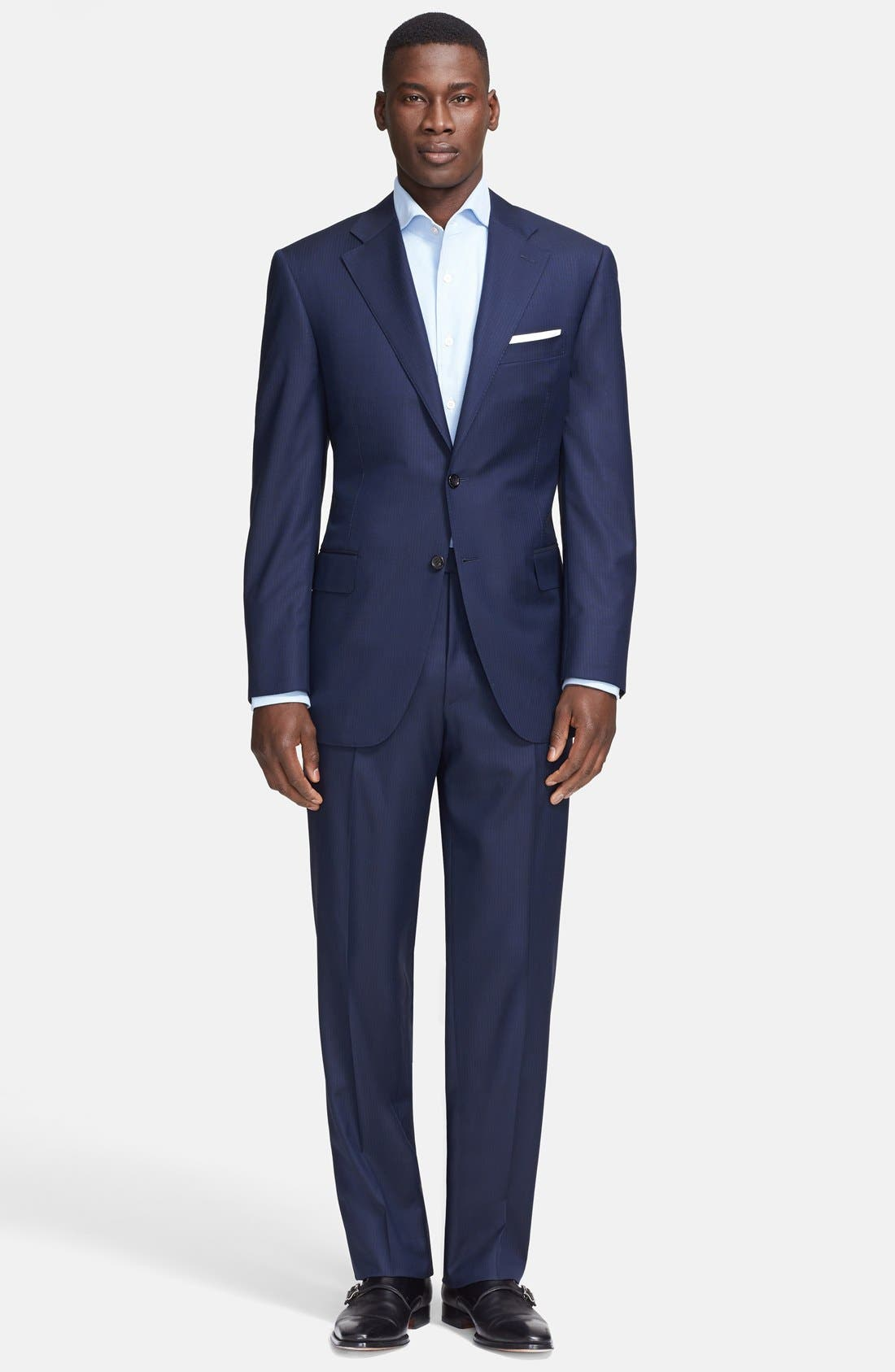 Alternate Image 1 Selected - Canali Classic Fit Wool Suit
