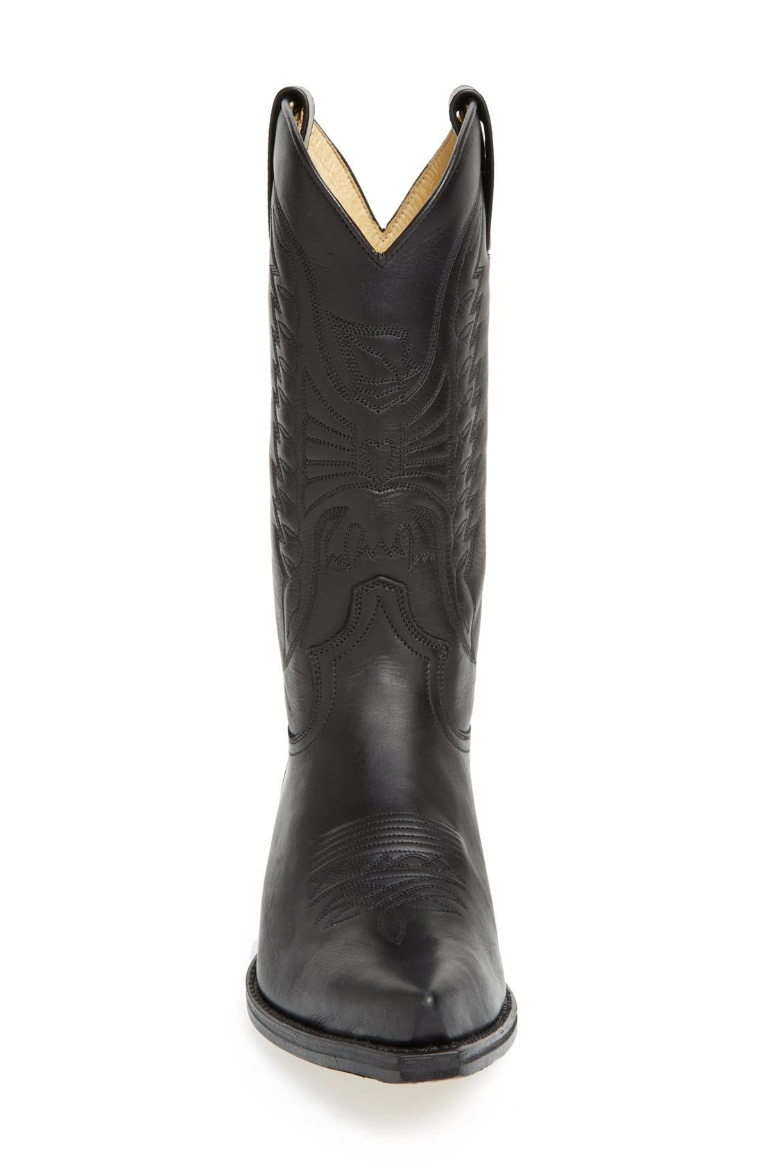 'Reno' Cowboy Boot,                             Alternate thumbnail 3, color,                             Black