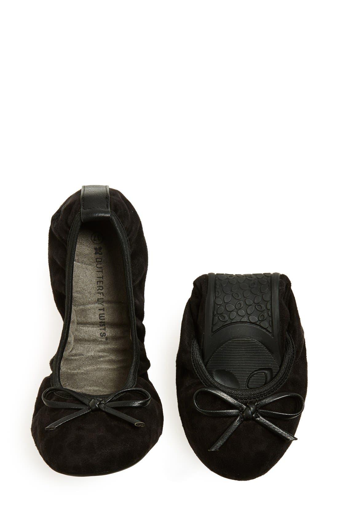 Alternate Image 5  - Butterfly Twists 'Cece Leopard' Folding Ballerina Flat (Women)