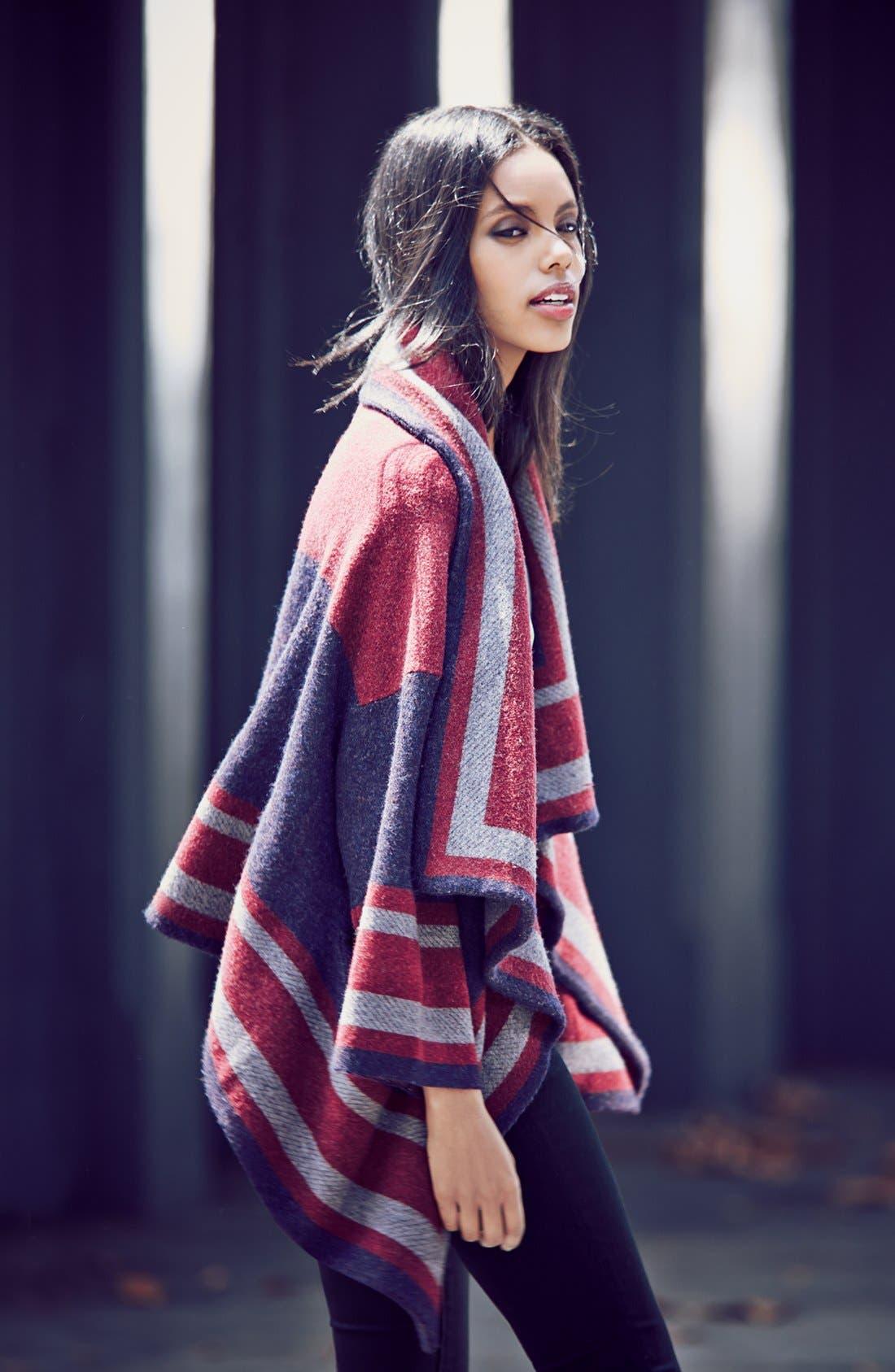 Alternate Image 2  - Burberry Brit Wool Blend Blanket Wrap