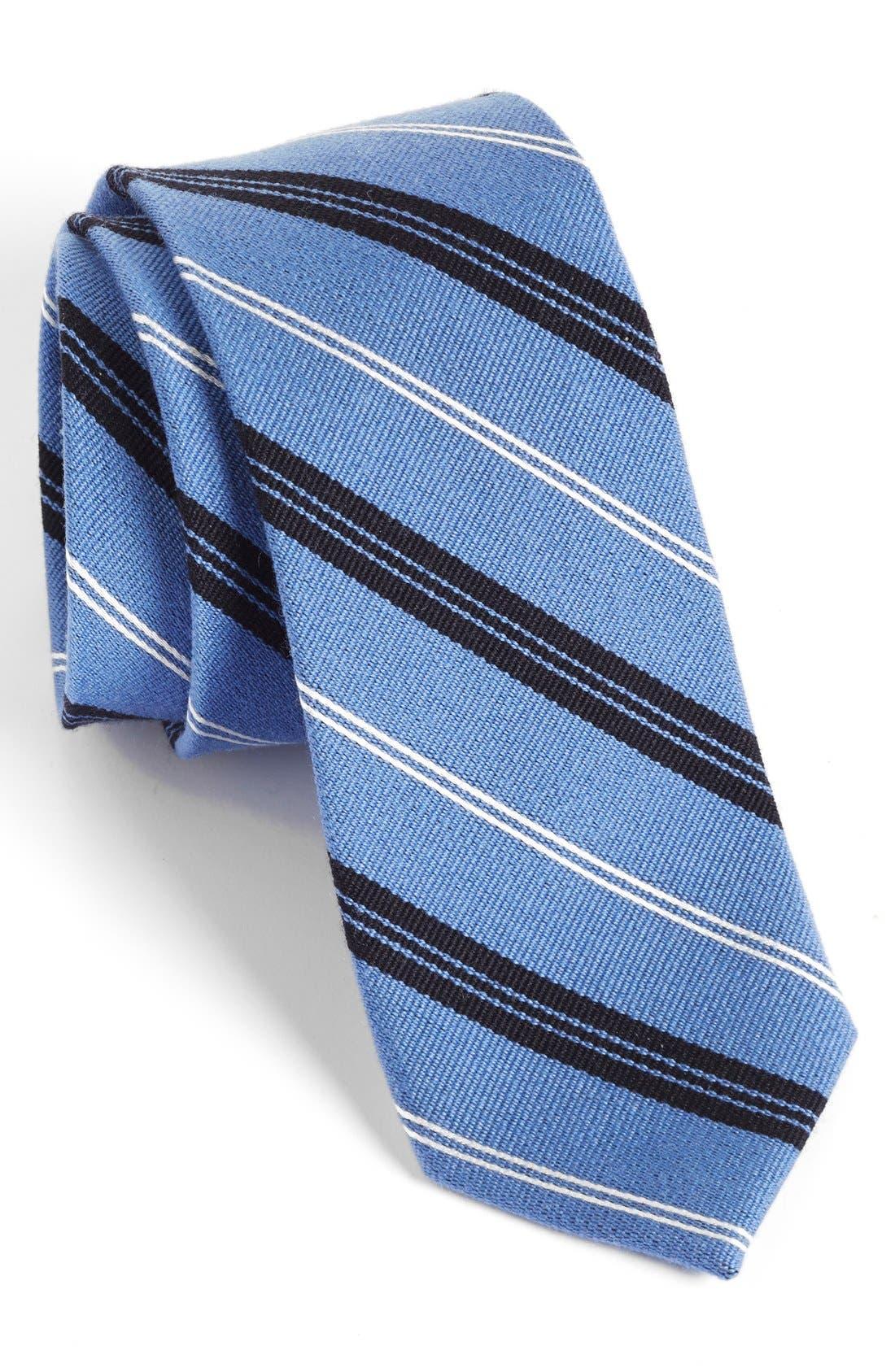 'Browne' Woven Wool & Silk Tie,                             Main thumbnail 1, color,                             Blue
