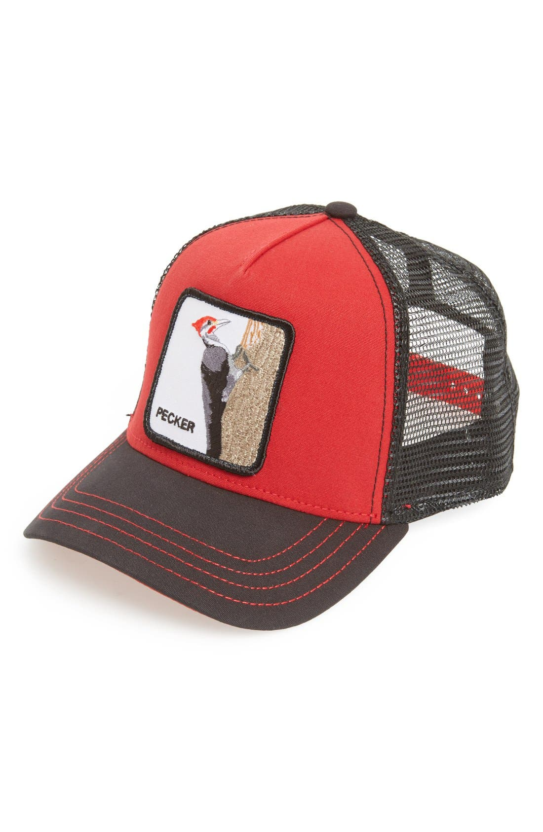 'Animal Farm - Woodpecker' Trucker Cap,                             Main thumbnail 1, color,                             Red