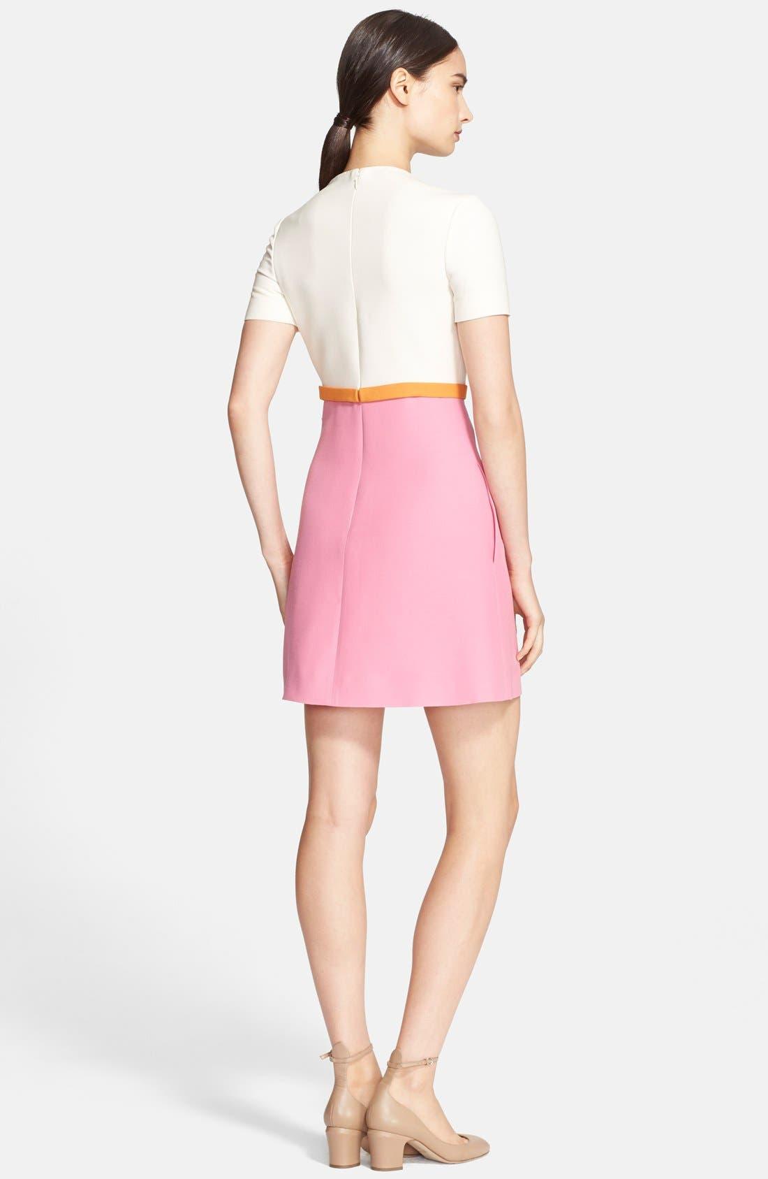 Alternate Image 2  - Valentino Tricolor Crepe Dress