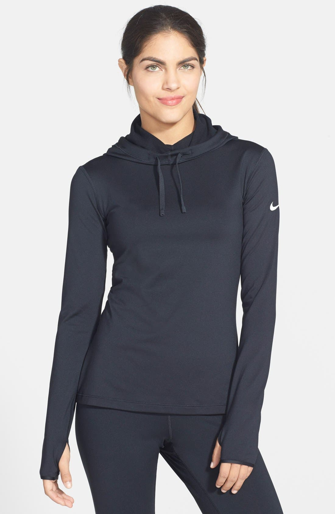 Alternate Image 1 Selected - Nike 'Pro Hyperwarm' Fitted Hoodie