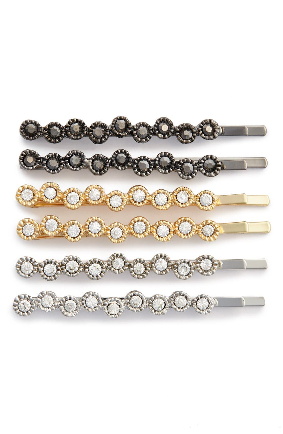 'Sparkle' Bobby Pins,                         Main,                         color, Gold