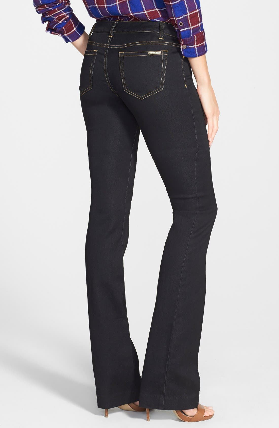 Alternate Image 2  - MICHAEL Michael Kors Stretch Straight Leg Jeans