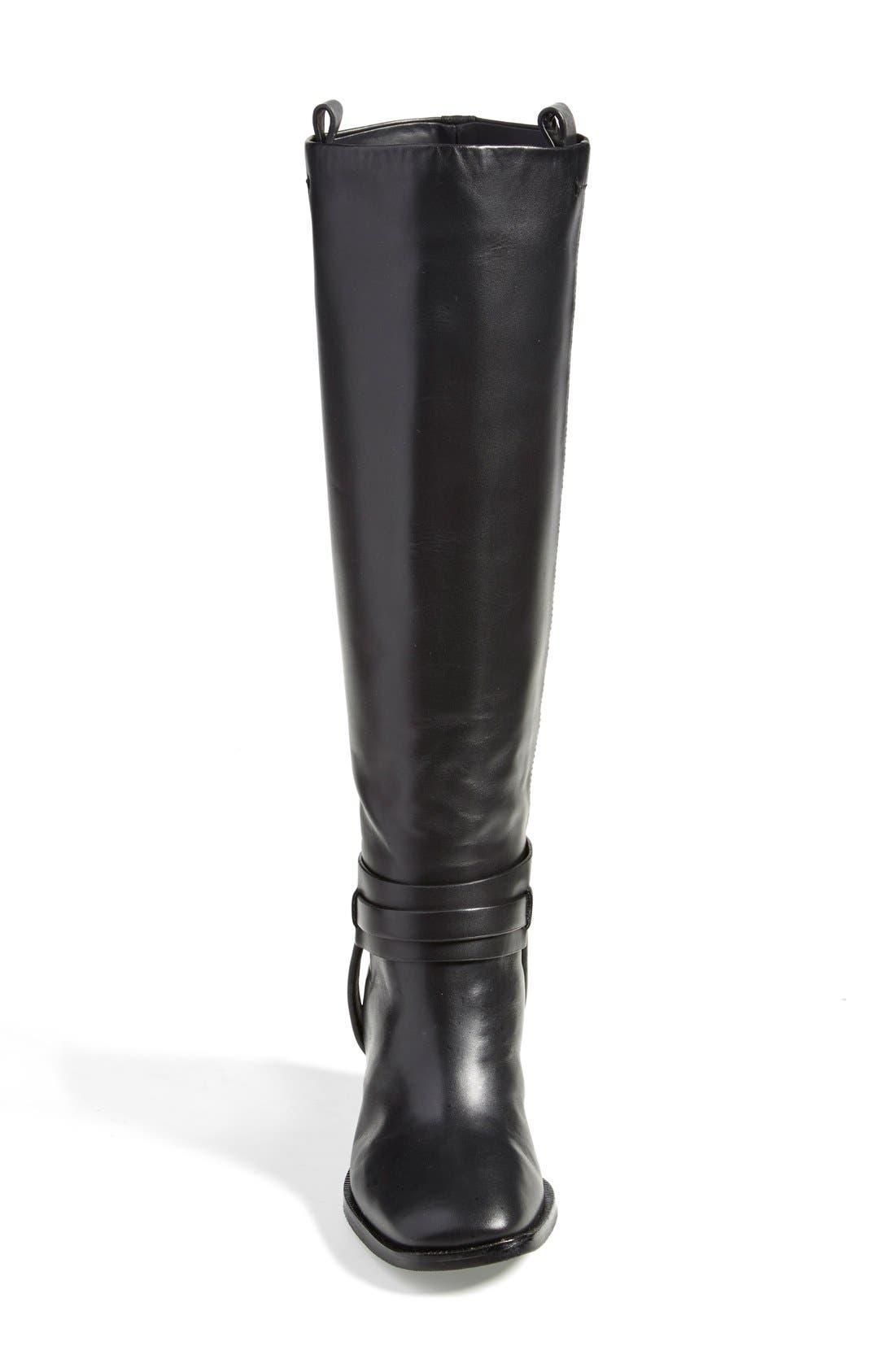 'Tazmin' Knee High Boot,                             Alternate thumbnail 3, color,                             Nero