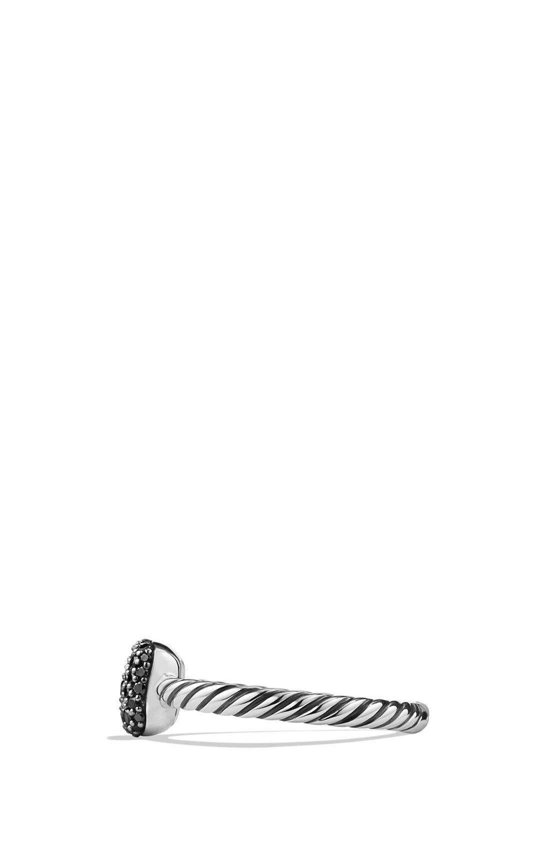 Alternate Image 3  - David Yurman 'Pavé' Cushion Ring with Black Diamonds
