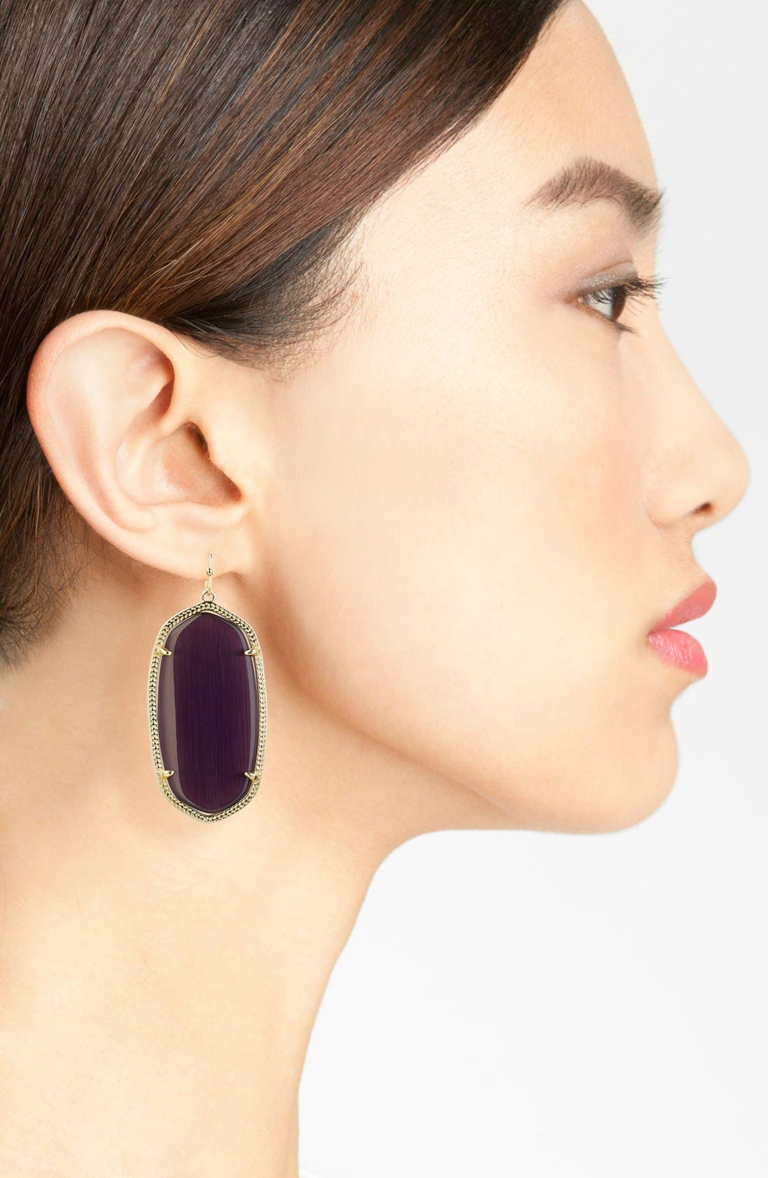 Danielle - Large Oval Statement Earrings,                             Alternate thumbnail 4, color,
