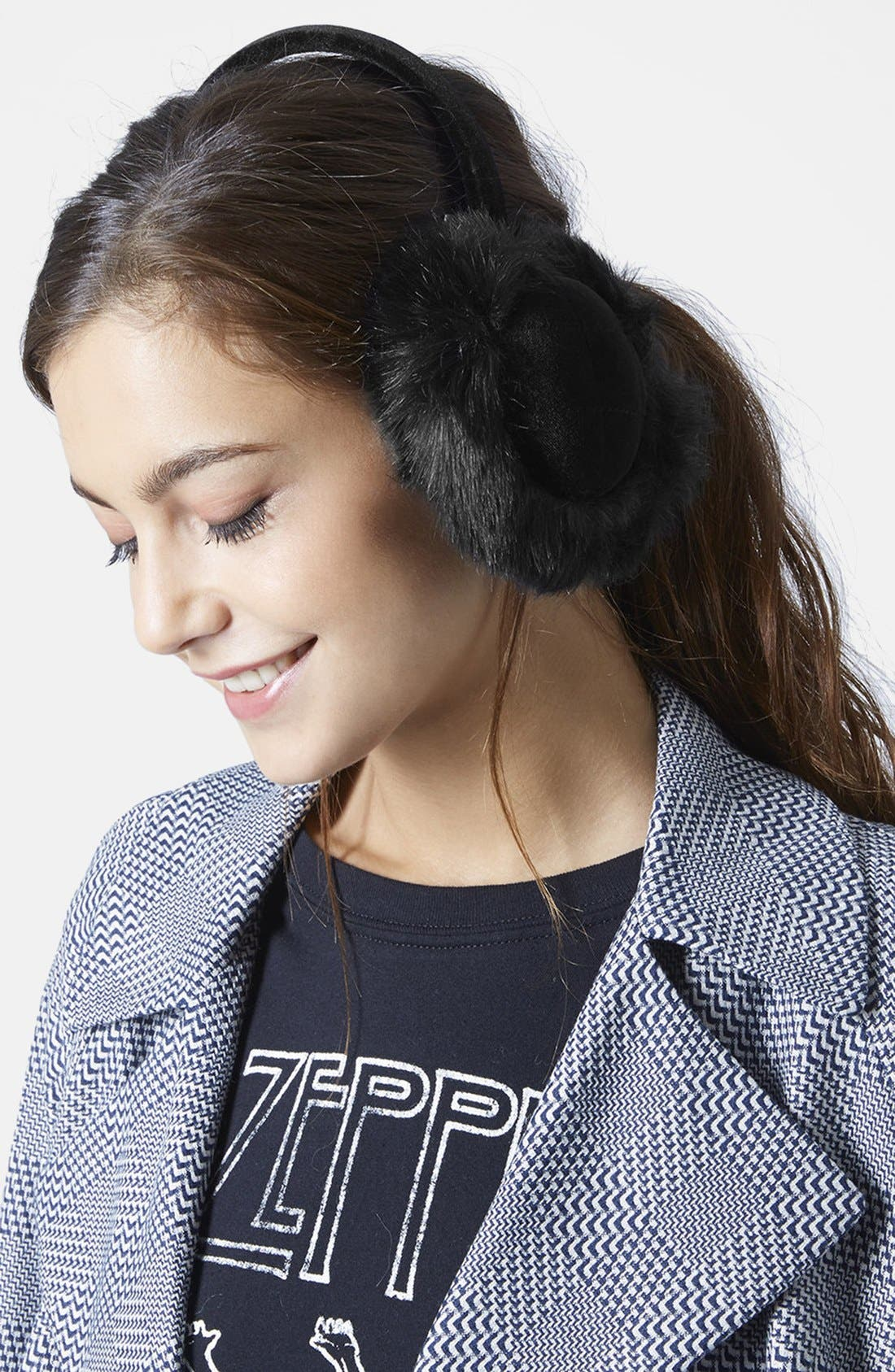 Alternate Image 2  - Topshop 'Core' Faux Fur Earmuffs
