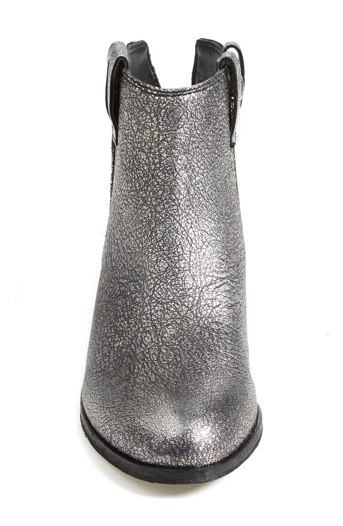 'James' Round Toe Bootie,                             Alternate thumbnail 4, color,                             Argento Silver