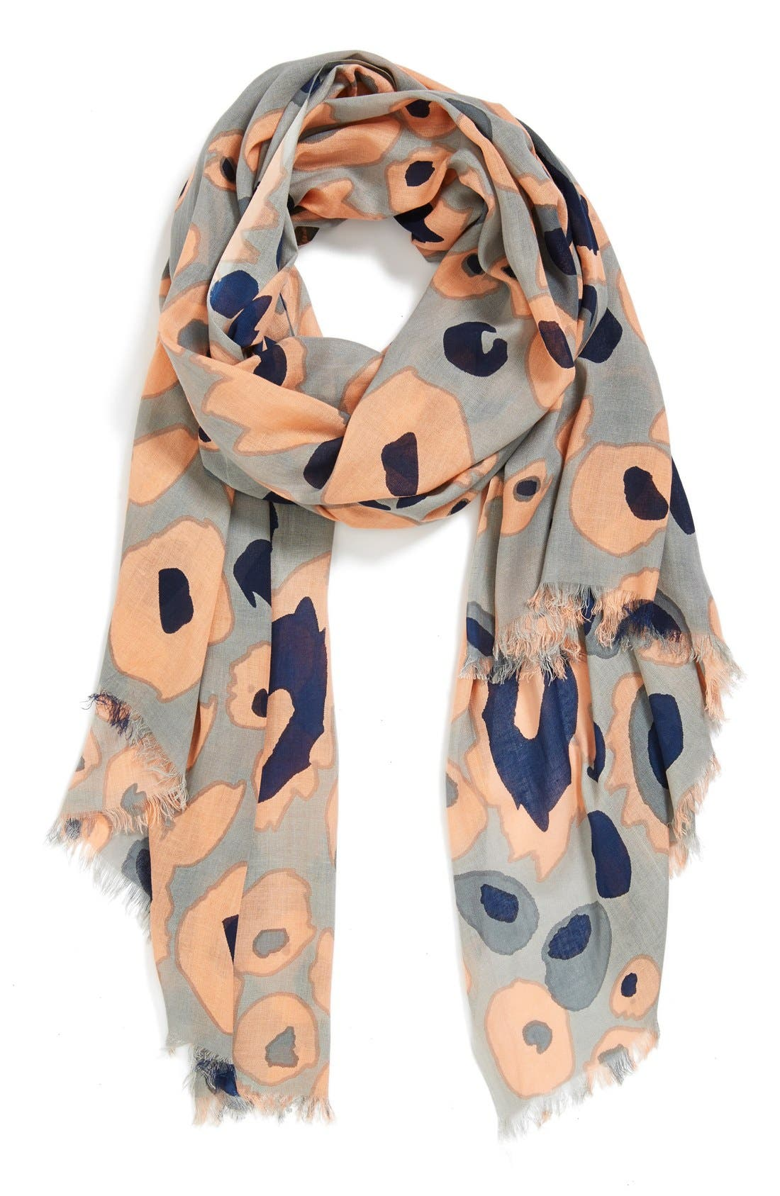 Main Image - Urban Originals Abstract Leopard Print Scarf