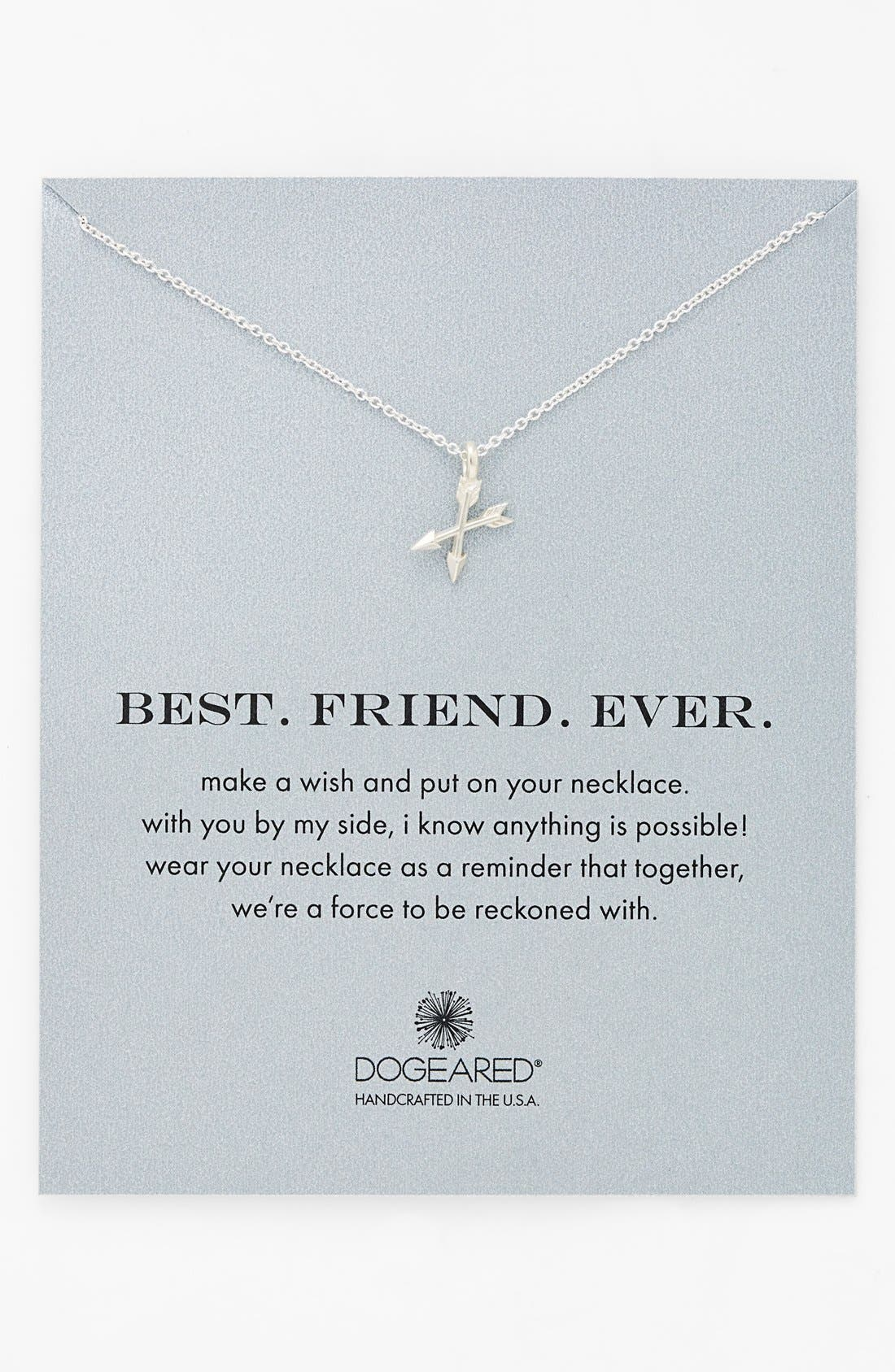 Alternate Image 1 Selected - Dogeared 'Best. Friend. Ever.' Pendant Necklace