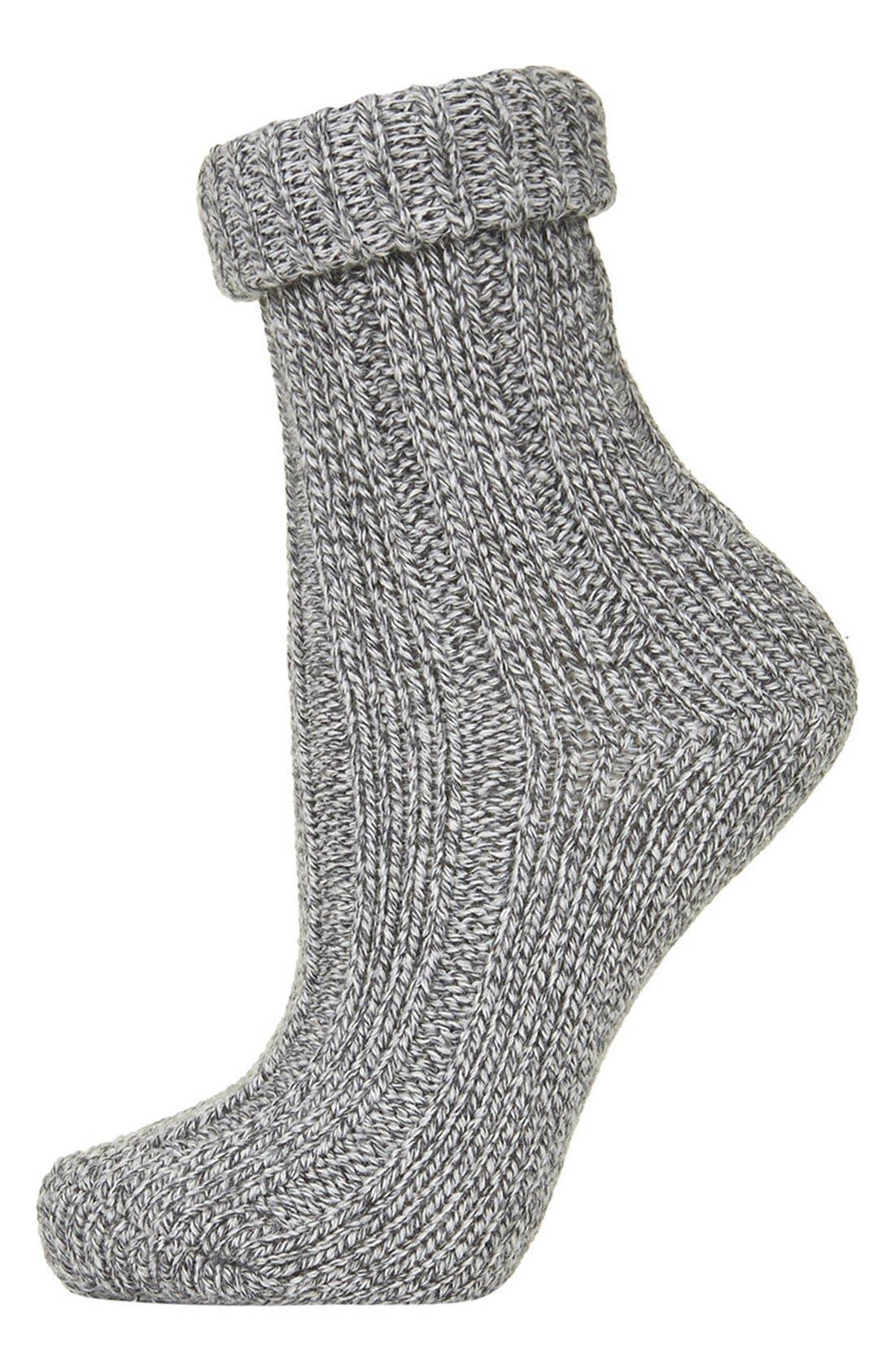 Alternate Image 1 Selected - Topshop Roll Top Knit Ankle Socks