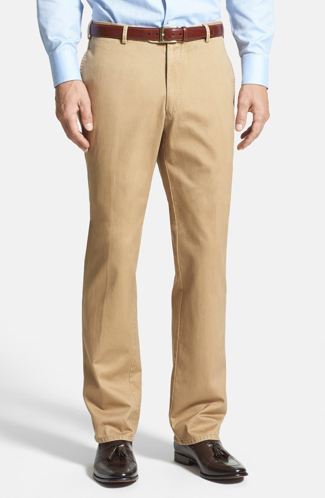 Garment Washed Twill Pants,                         Main,                         color, British Tan