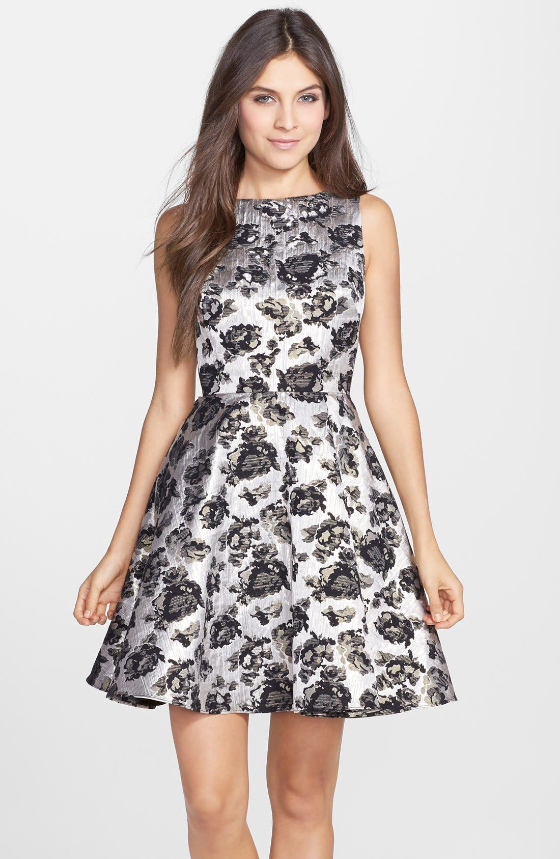 Main Image - Hailey by Adrianna Papell Brocade Fit & Flare Dress