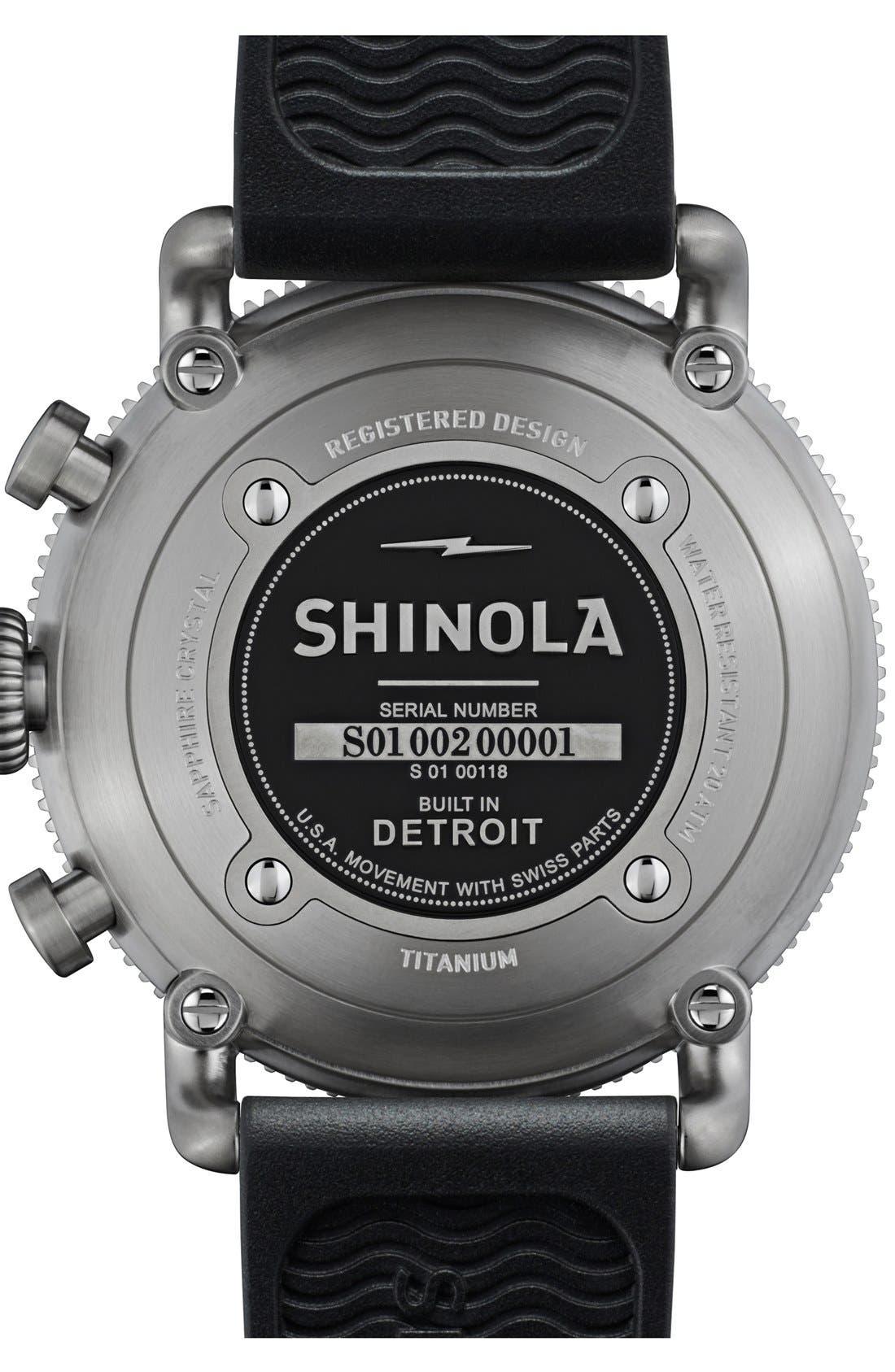 Alternate Image 3  - Shinola 'The Black Blizzard' Chronograph Interchangeable Strap Watch, 48mm (Limited Edition)