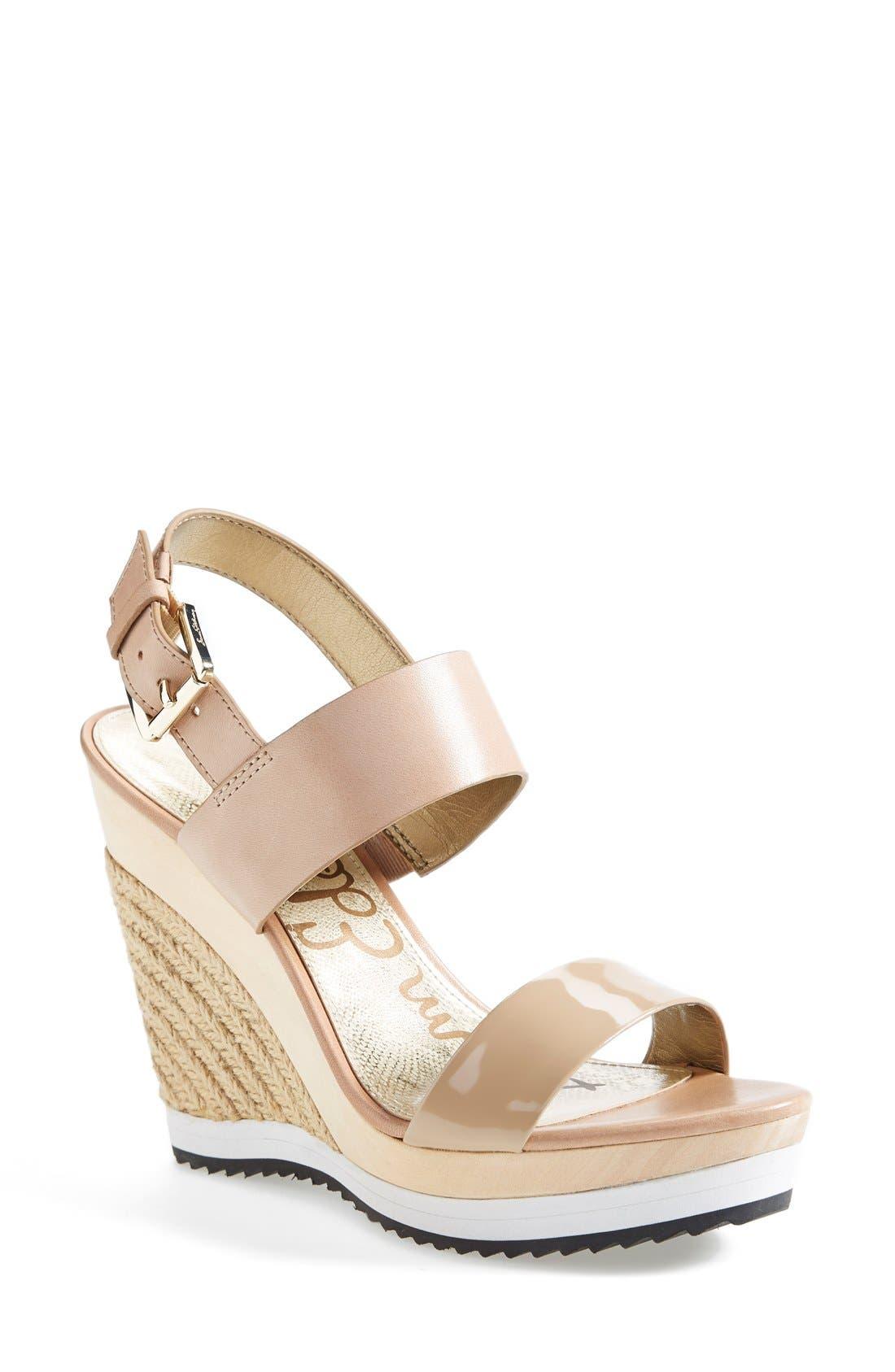 Alternate Image 1 Selected - Sam Edelman 'Korinne' Wedge Sandal (Women)