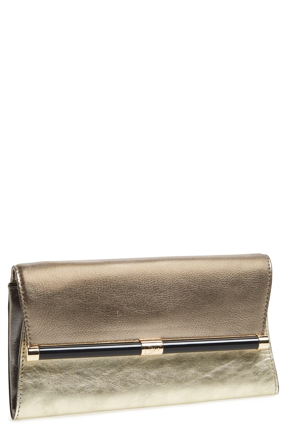'440 - Mixed Metallic' Envelope Clutch,                         Main,                         color, Tinsel/ Light Gold/ Pewter