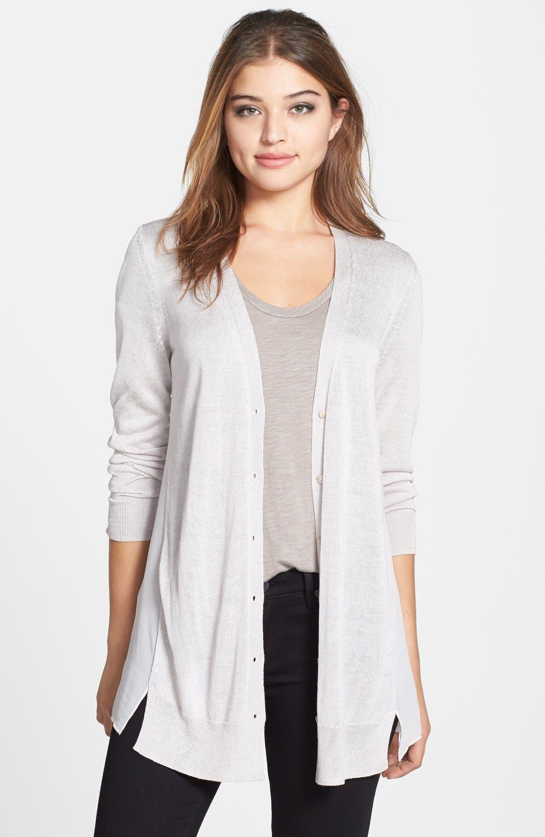 NIC+ZOE Chiffon Back Cardigan (Regular & Petite)