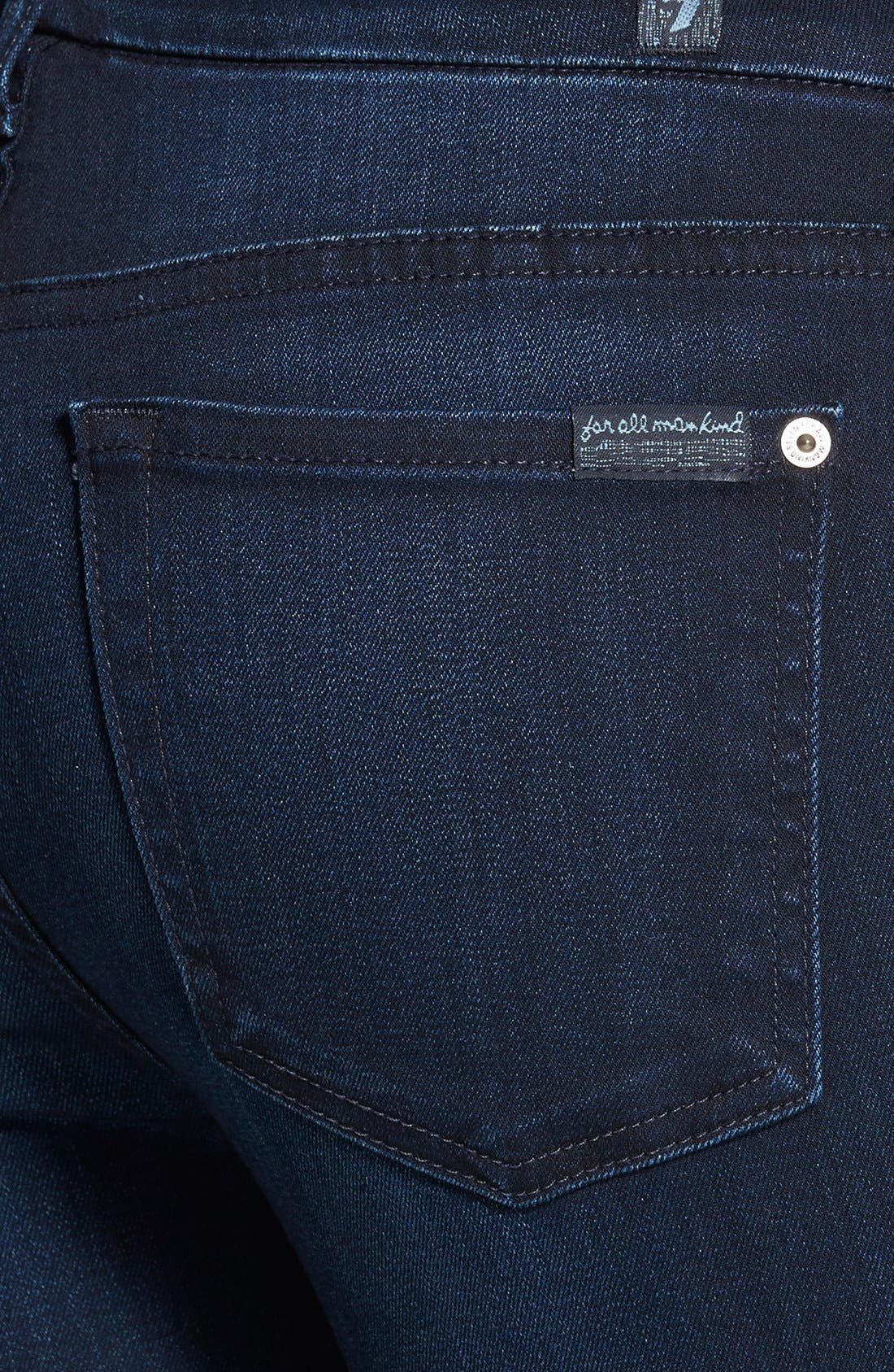 Alternate Image 3  - 7 For All Mankind® 'The Ankle Skinny' Contour Jeans (Pristine Blue Black)