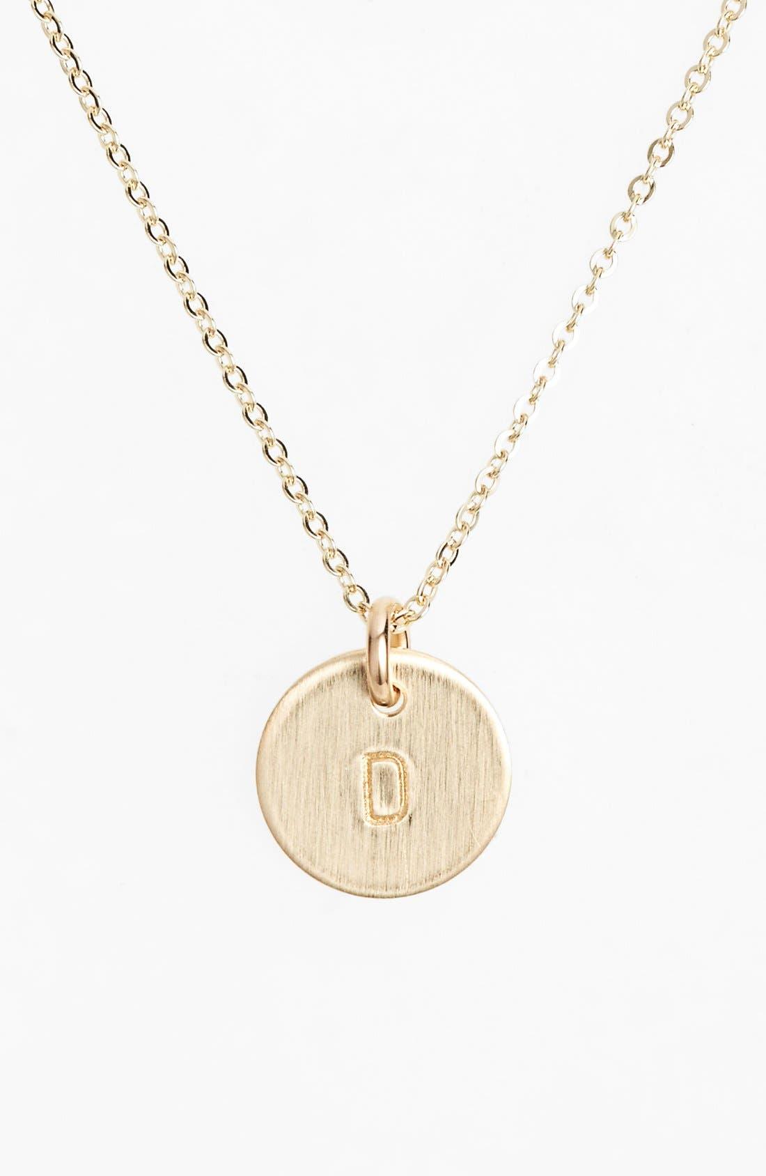 Nashelle 14k-Gold Fill Initial Mini Circle Necklace