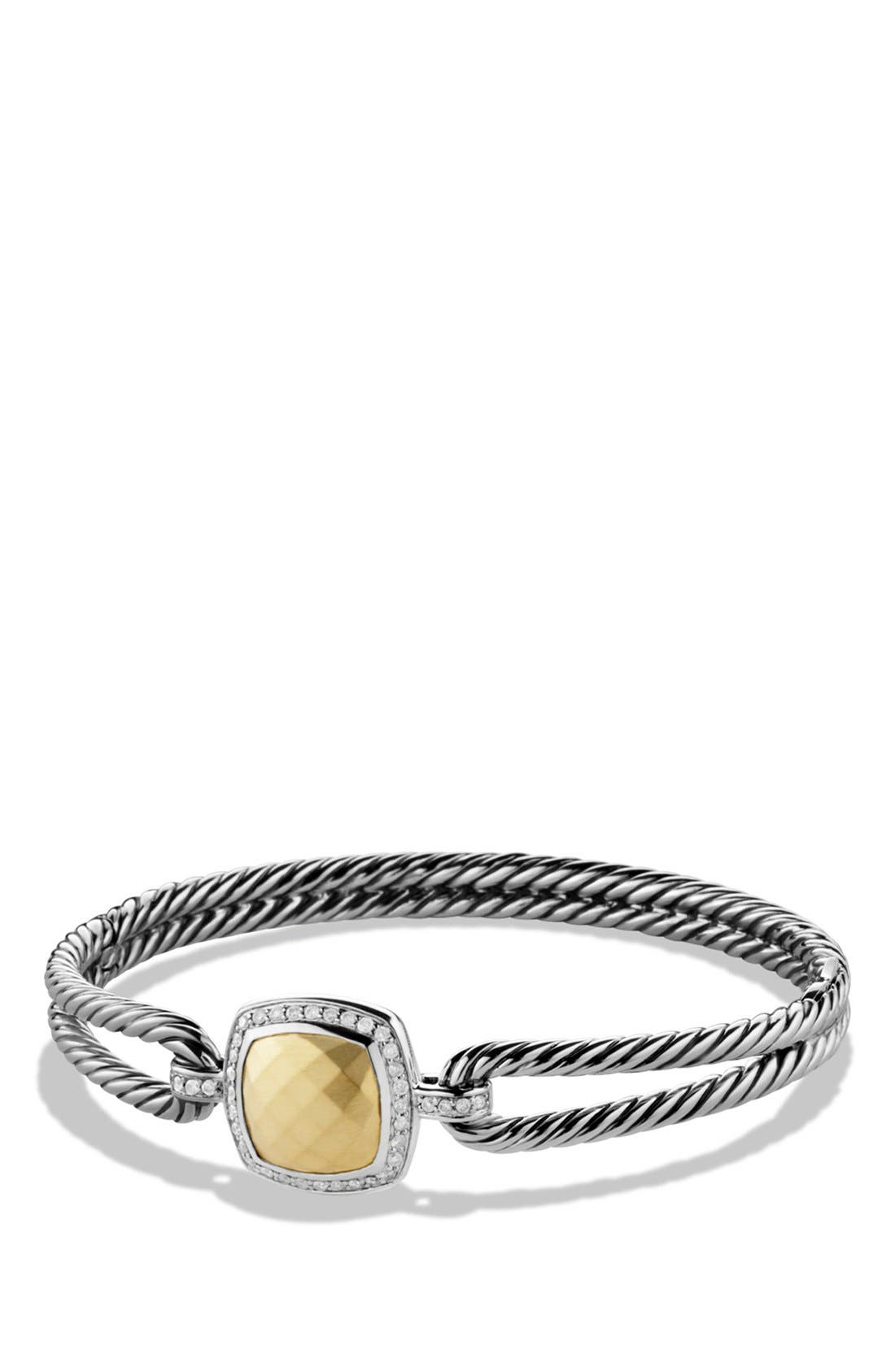 'Albion' Bracelet with Diamonds and Gold,                         Main,                         color, Gold Dome