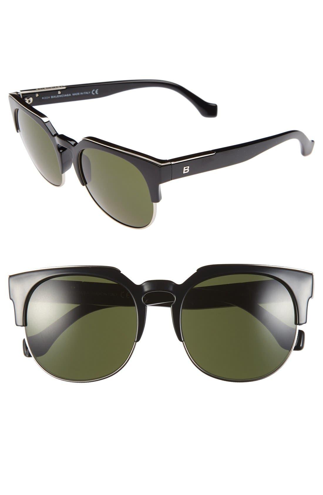 54mm Sunglasses,                         Main,                         color, Black/ Graident Smoke Lenses