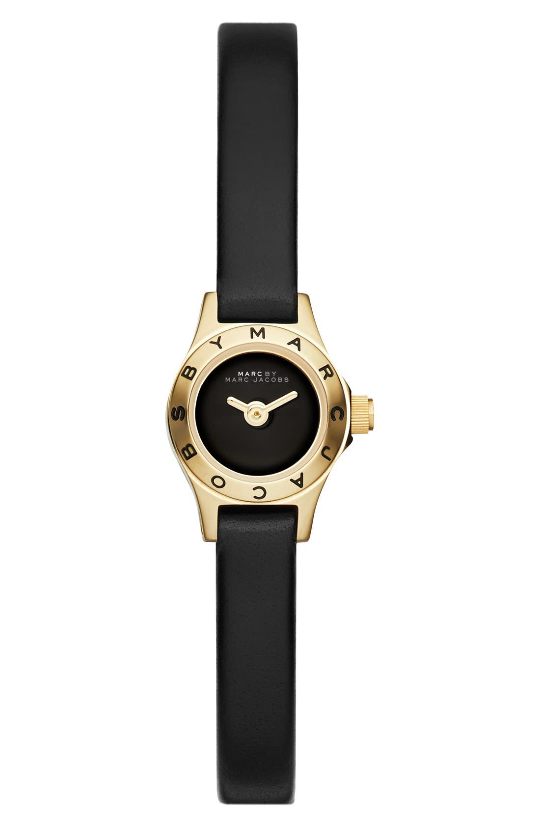 Main Image - MARC BY MARC JACOBS 'Super Dinky Blade' Silicone Strap Watch, 15mm