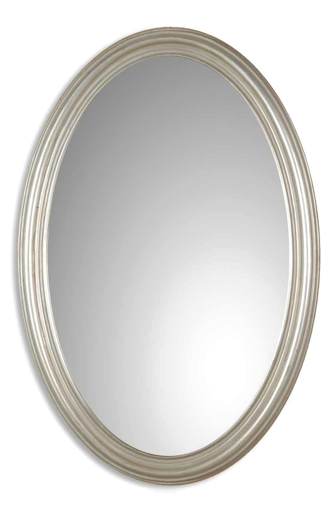 'Franklin' Wall Mirror,                             Main thumbnail 1, color,                             Silver