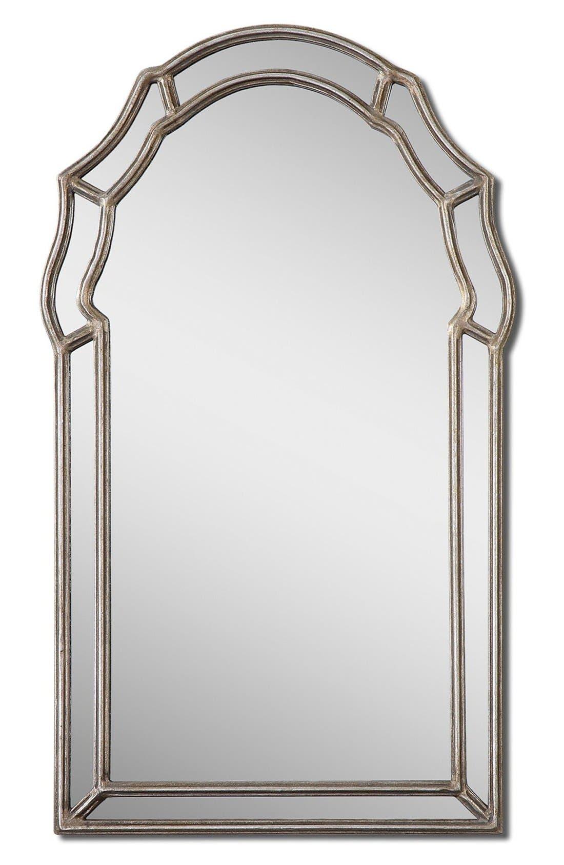 'Petrizzi' Arch Mirror,                         Main,                         color, Silver