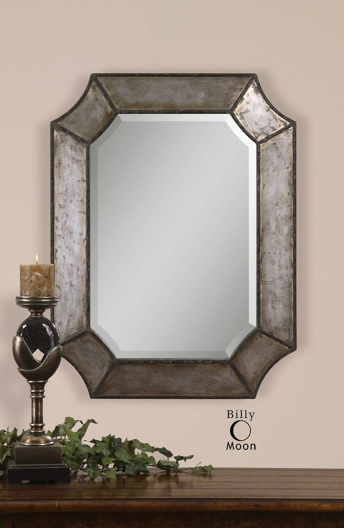 'Elliot' Distressed Mirror,                             Alternate thumbnail 3, color,                             Silver