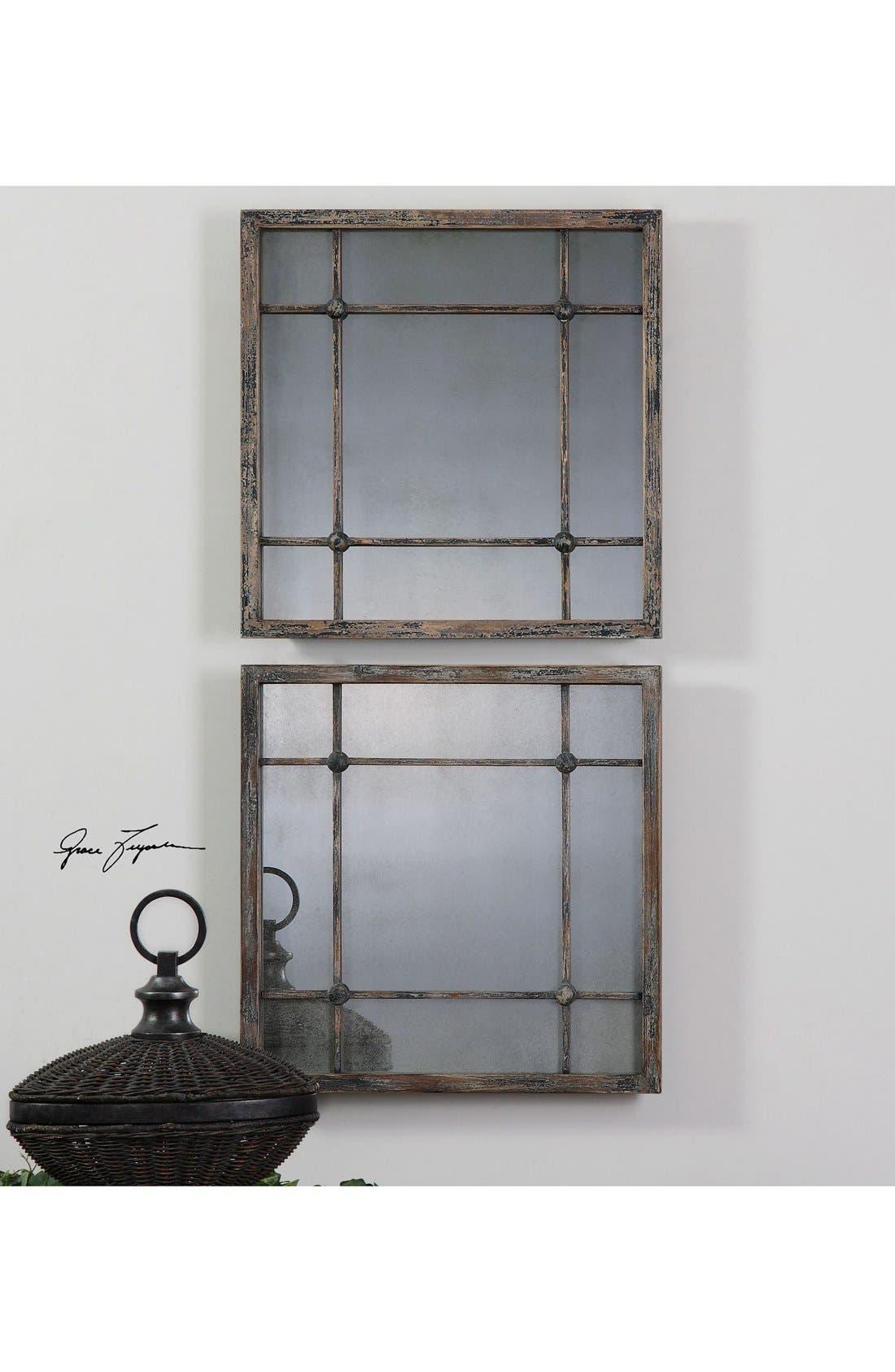 'Saragano' Square Mirror,                             Alternate thumbnail 3, color,                             Silver