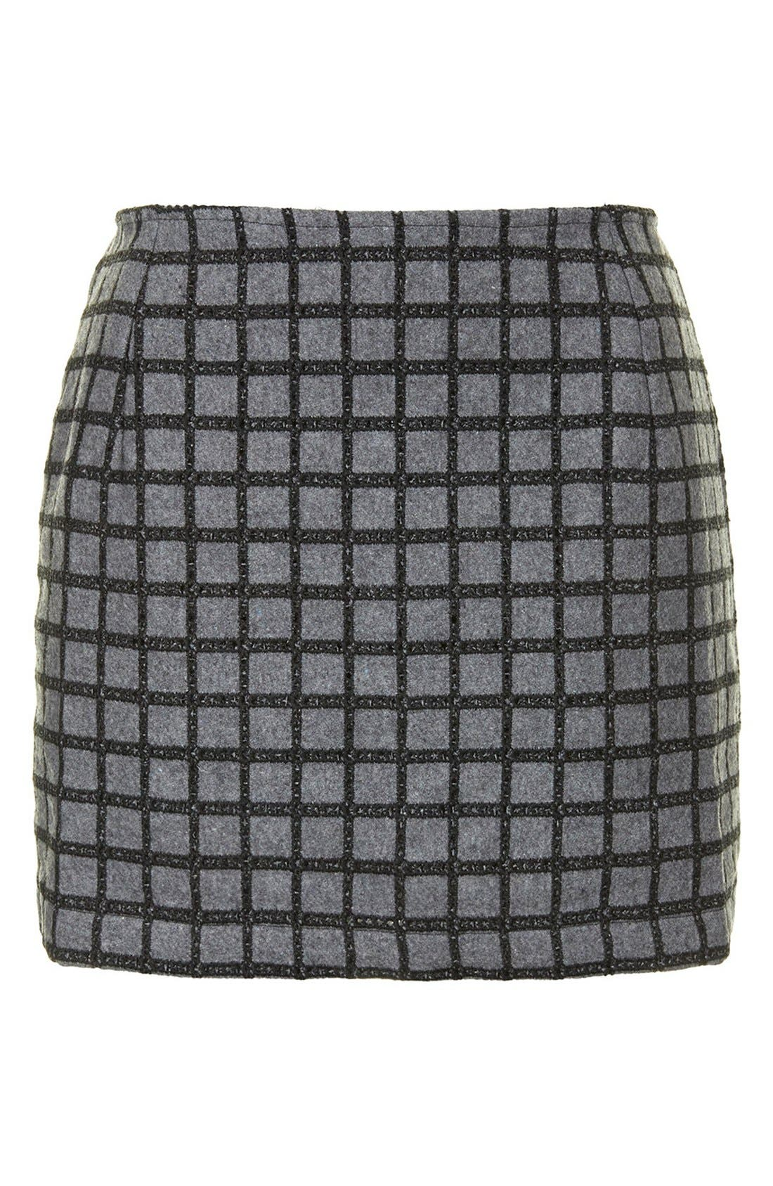Alternate Image 3  - Topshop Grid Miniskirt